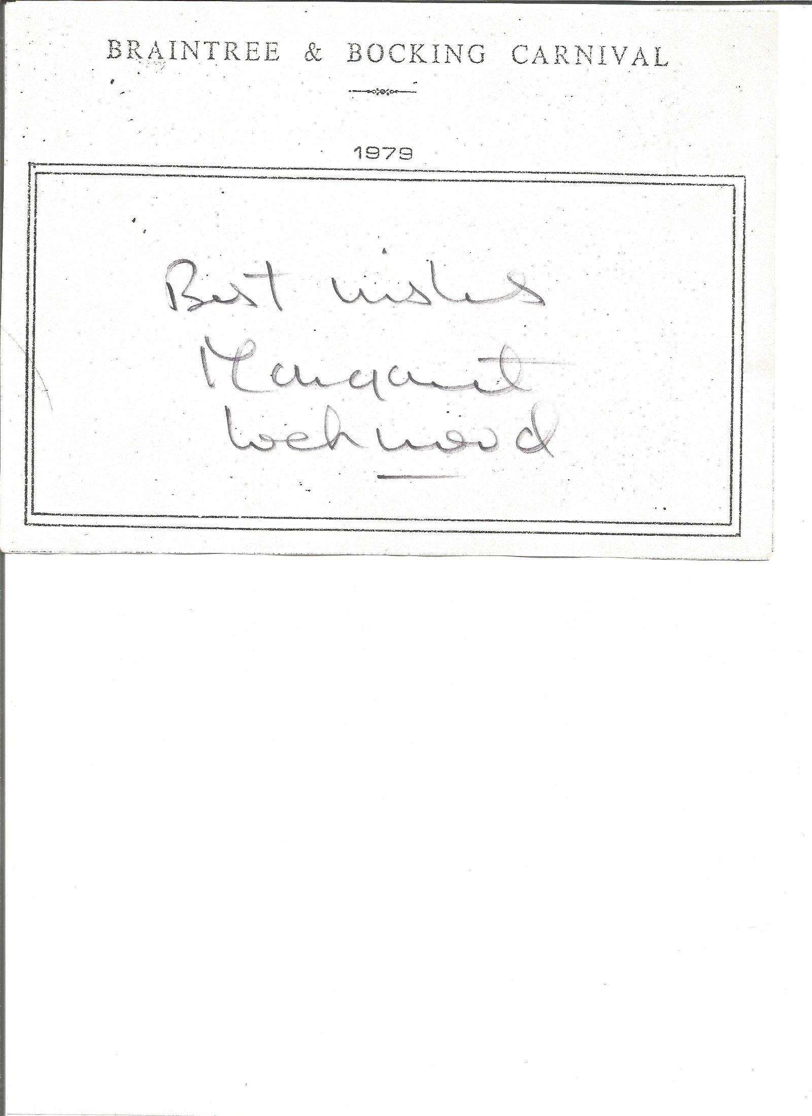 Margaret Lockwood large signature piece with 10x8 black