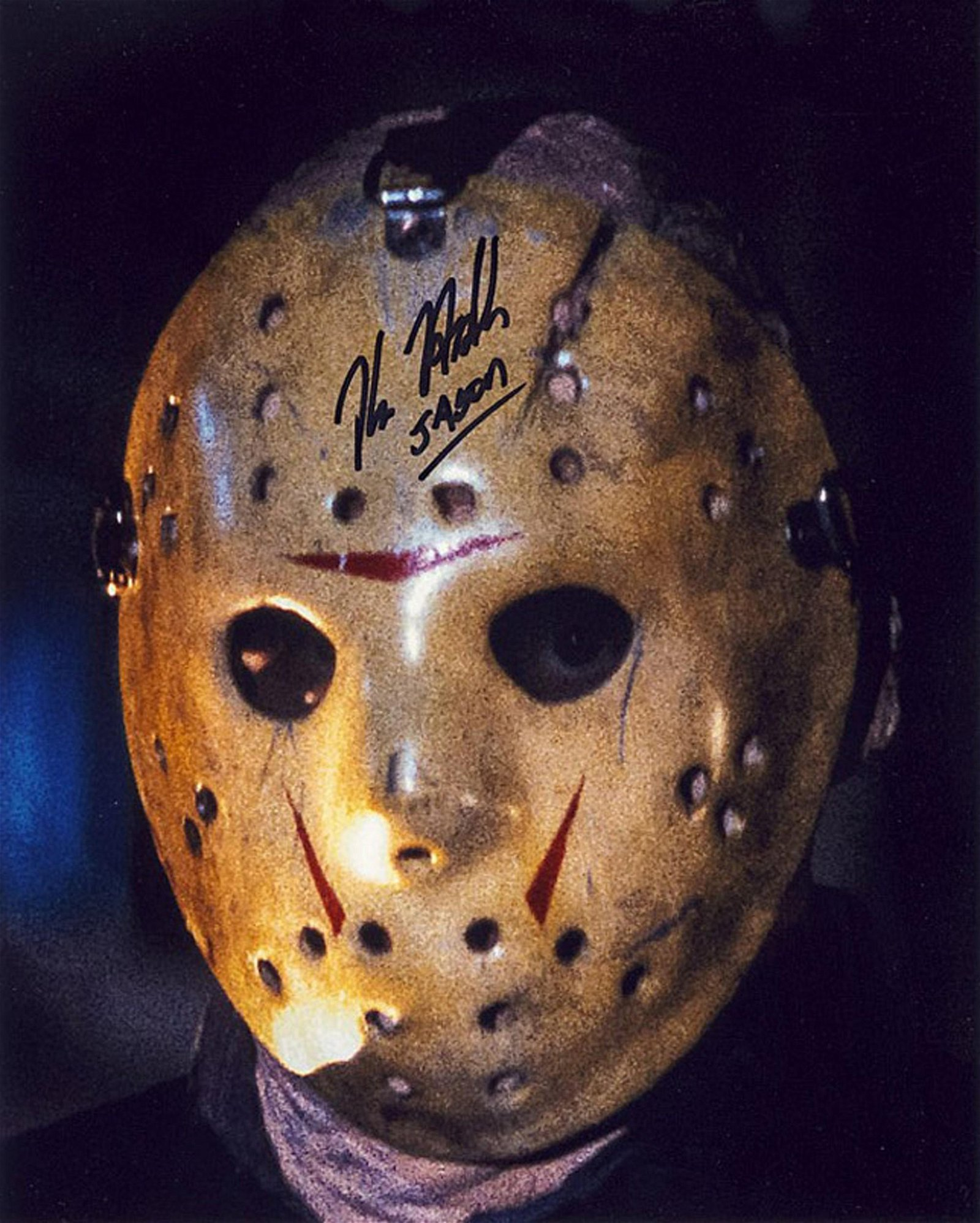 Blowout Sale! Kane Hodder Friday 13th hand signed 10x8
