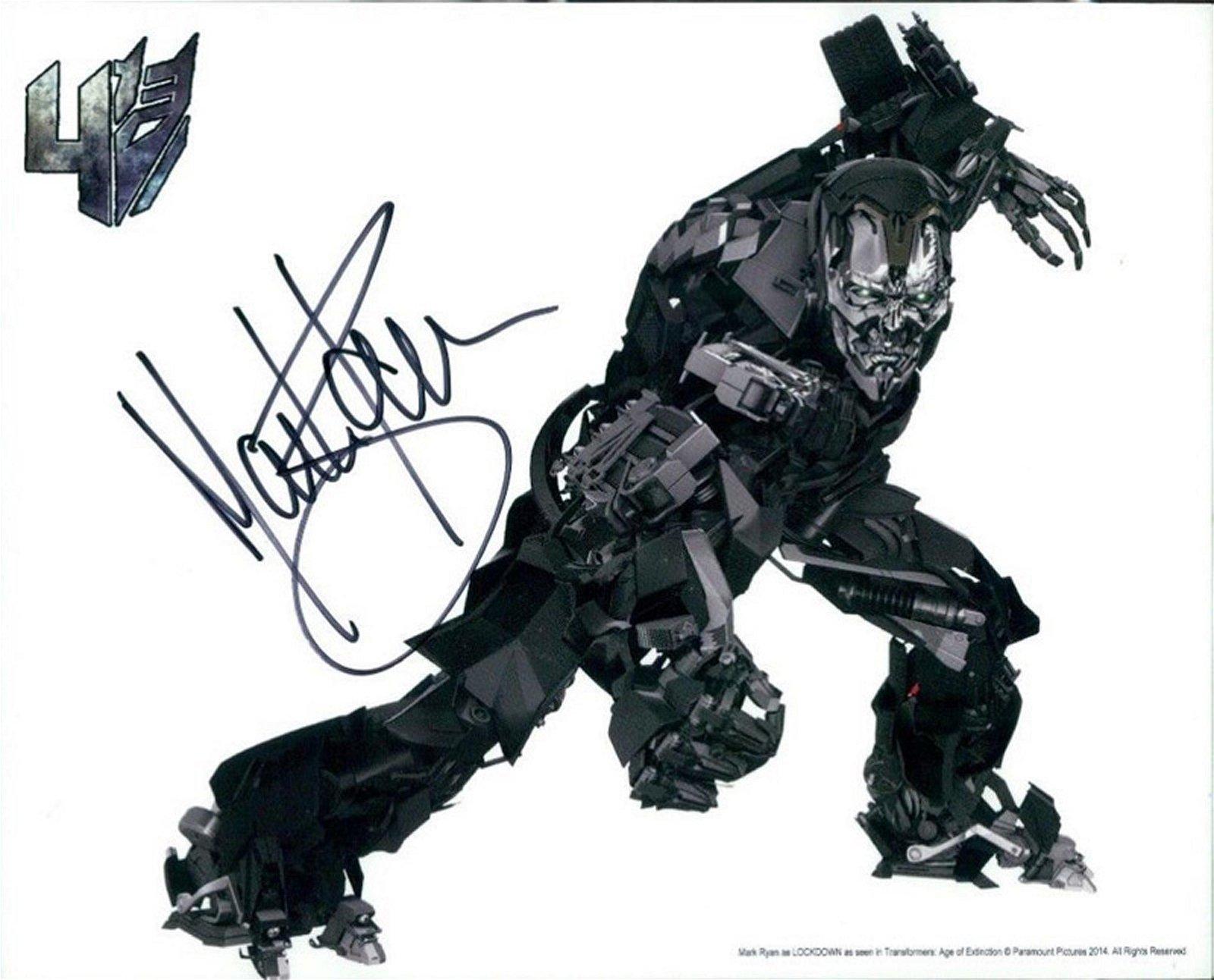 Blowout Sale! Transformers Matt Ryan hand signed 10x8