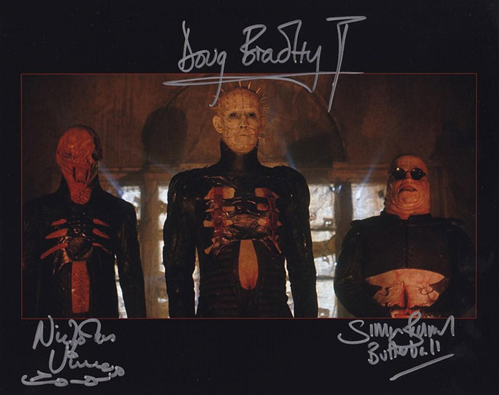 Blowout Sale! Hellraiser rare multi signed 10x8 photo.