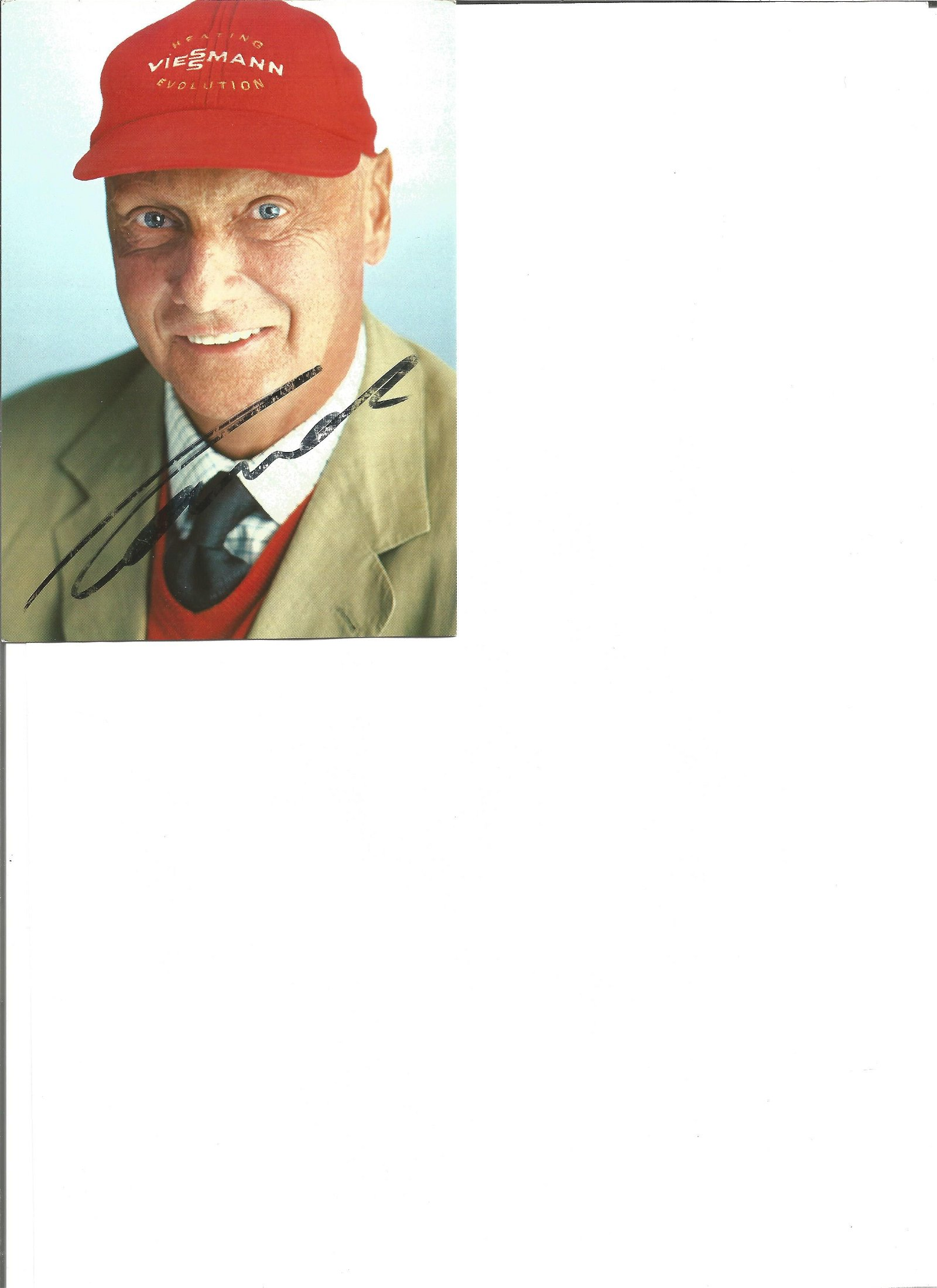 Niki Lauda signed 6x4 colour photo. Slightly scratchy