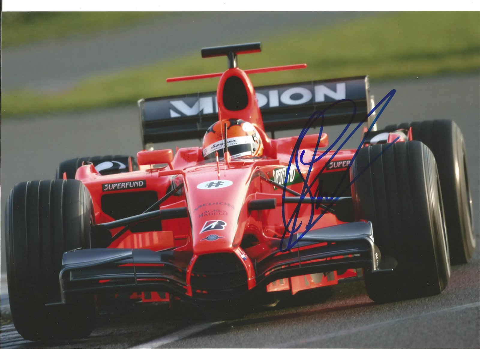 Adrian Sutil signed 12x8 colour photo. Good Condition.