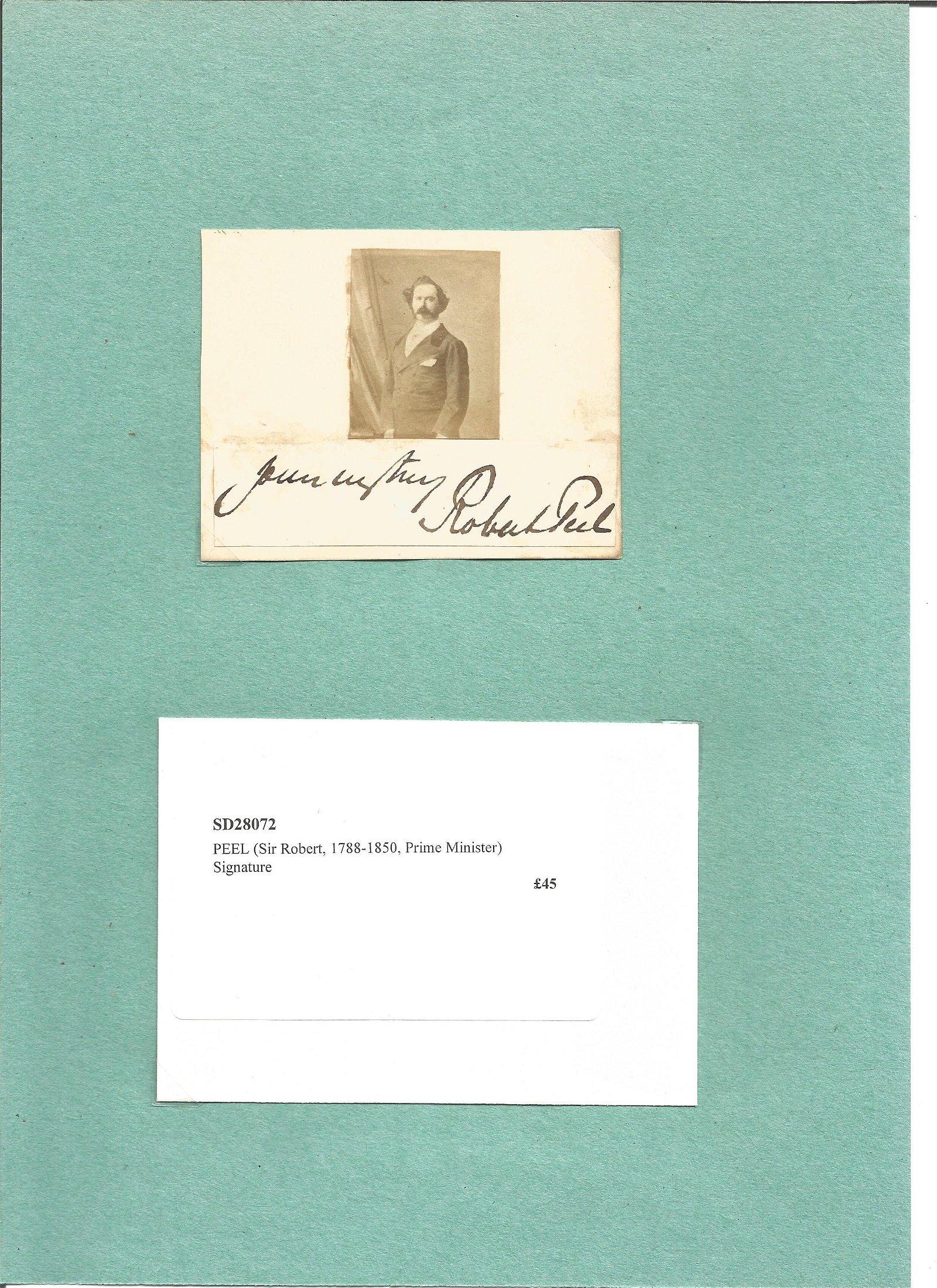 Sir Robert Peel 1788 150 signature piece. PM 1834/35.