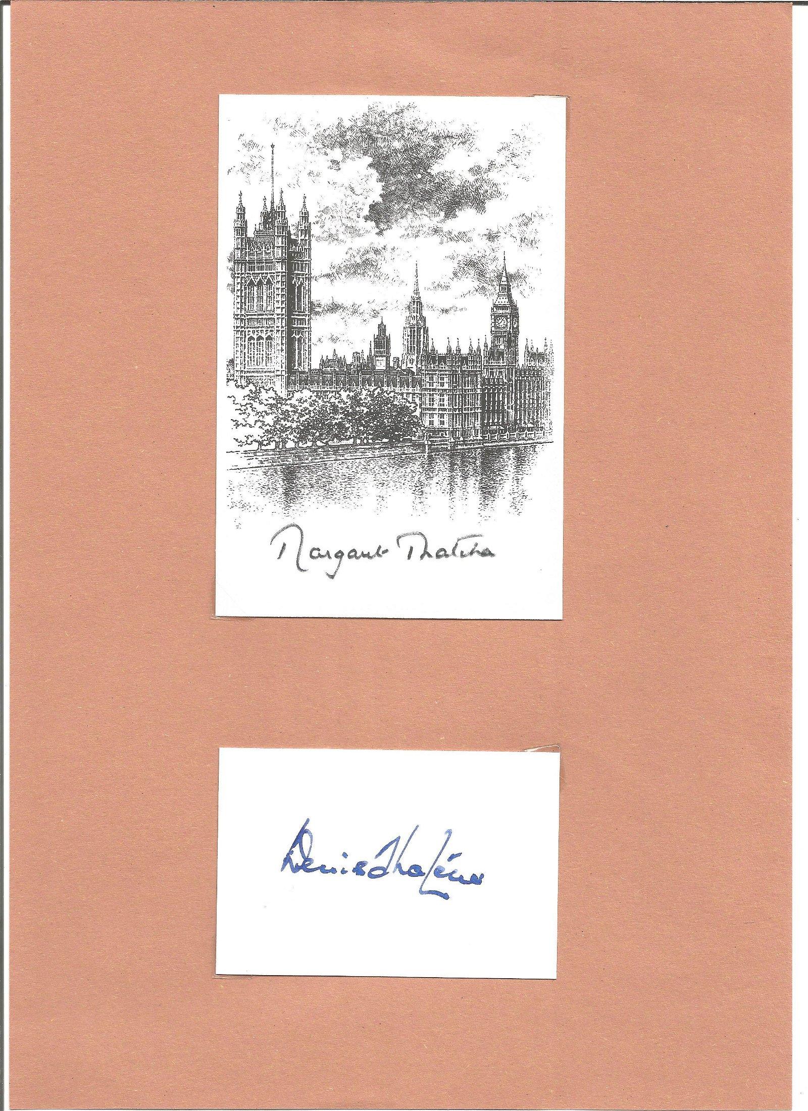 Margaret and Denis Thatcher signature pieces. Good