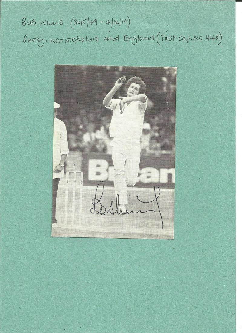Bob Willis signed 6x4 black and white photo. Good