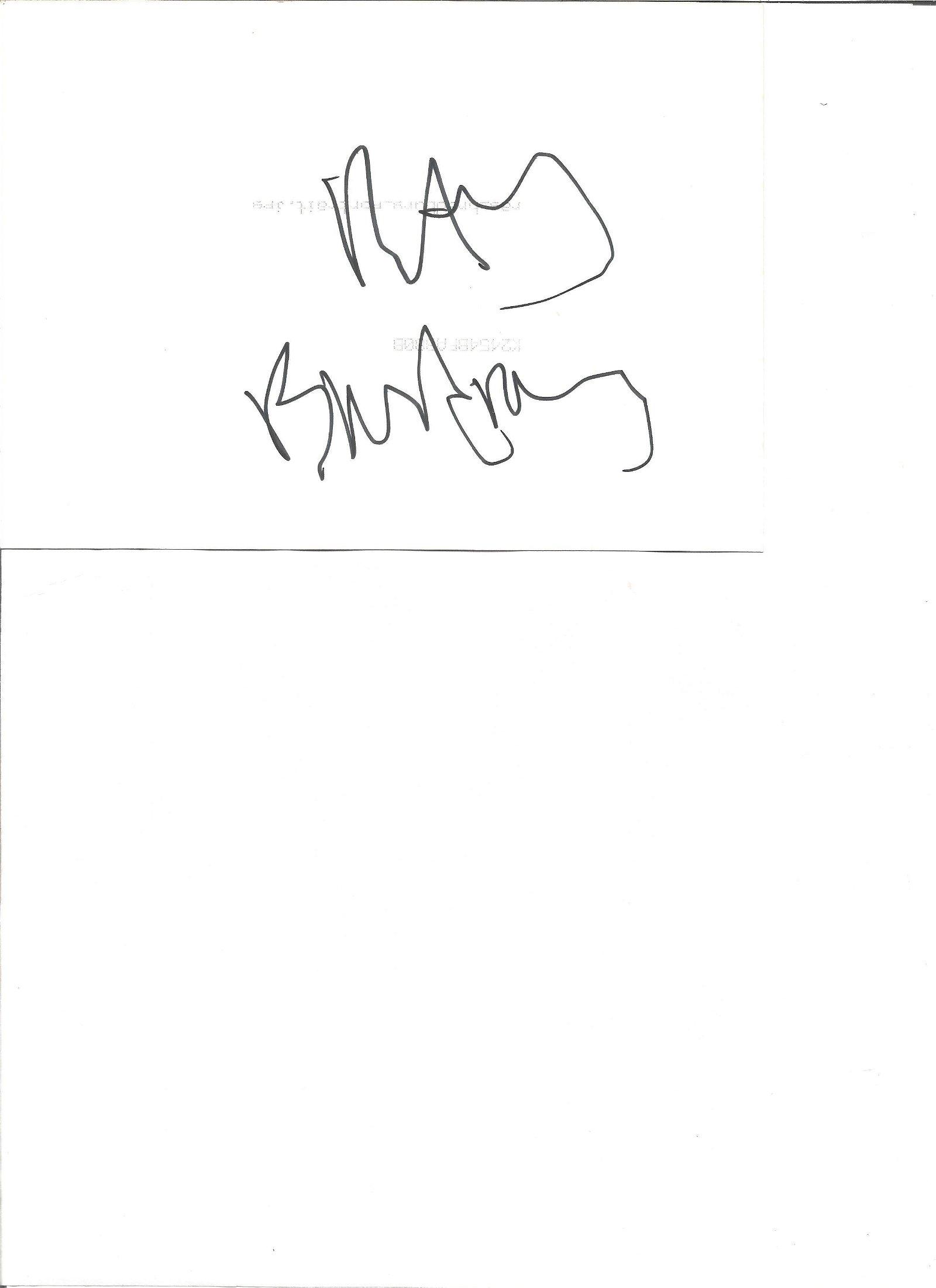 Ray Bradbury signed 7x5 black and white photo. Signed