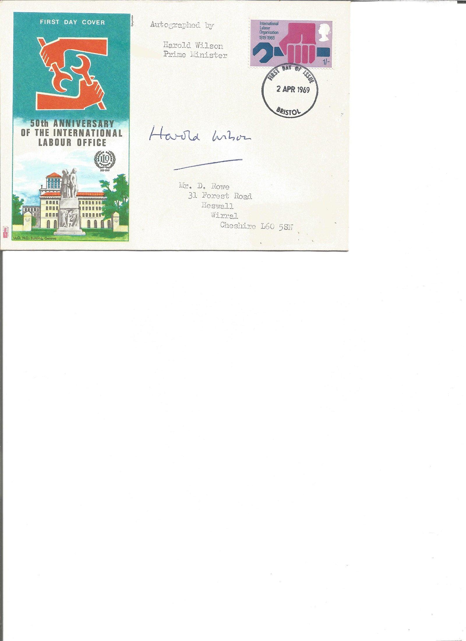 Harold Wilson signed 50th anniv of the International