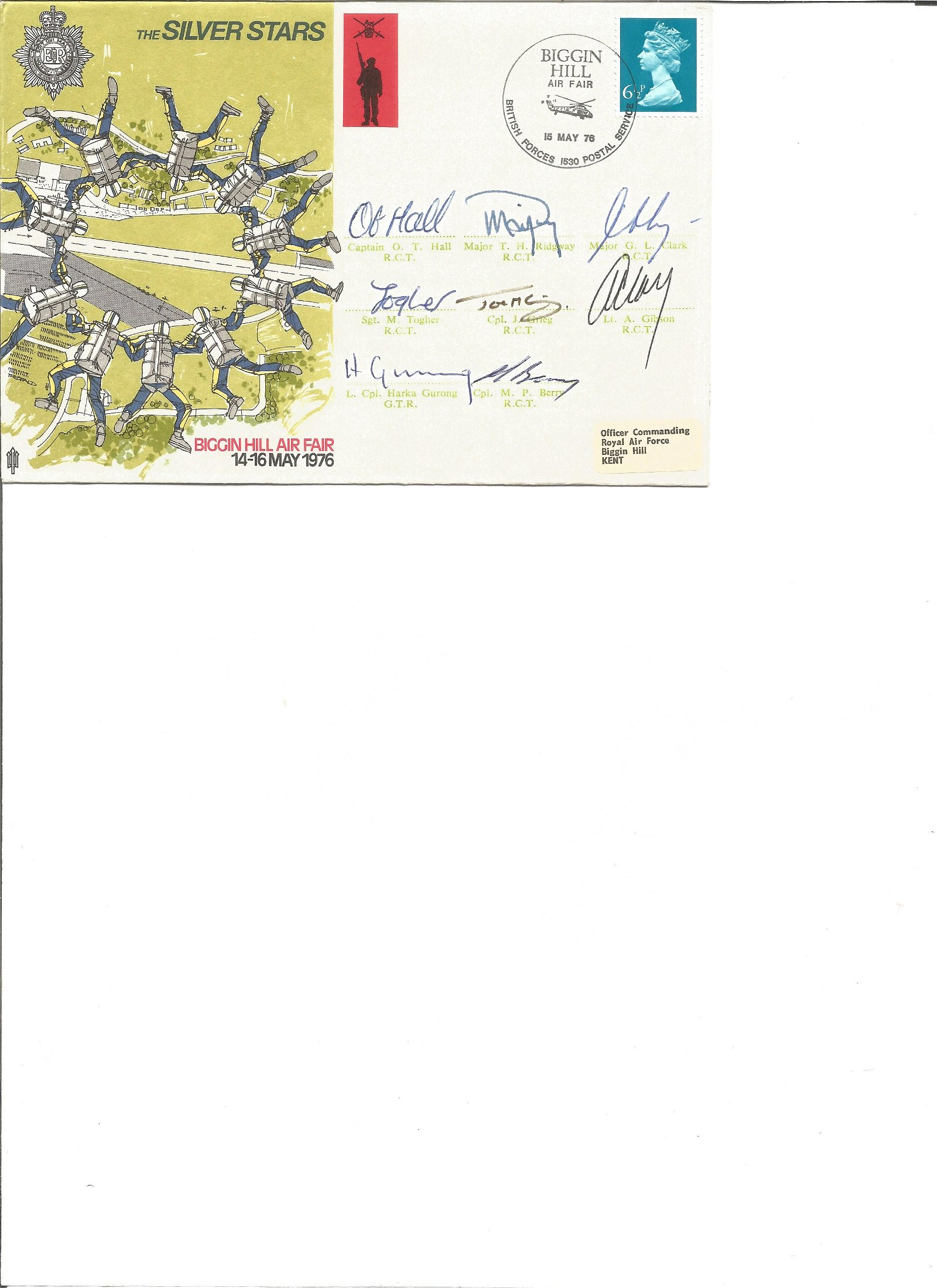 The Silver Stars cover signed by 9 including, Hall,