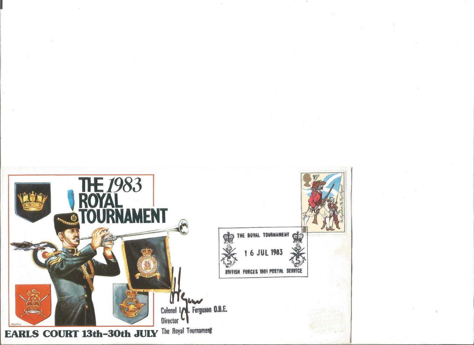 Clnl I Ferguson signed 1983 Royal Tournament cover.