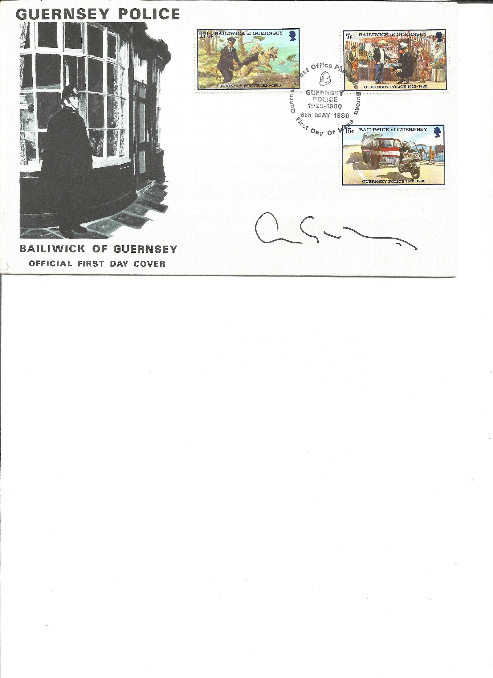 Chris Grayling signed cover. Good Condition. All signed