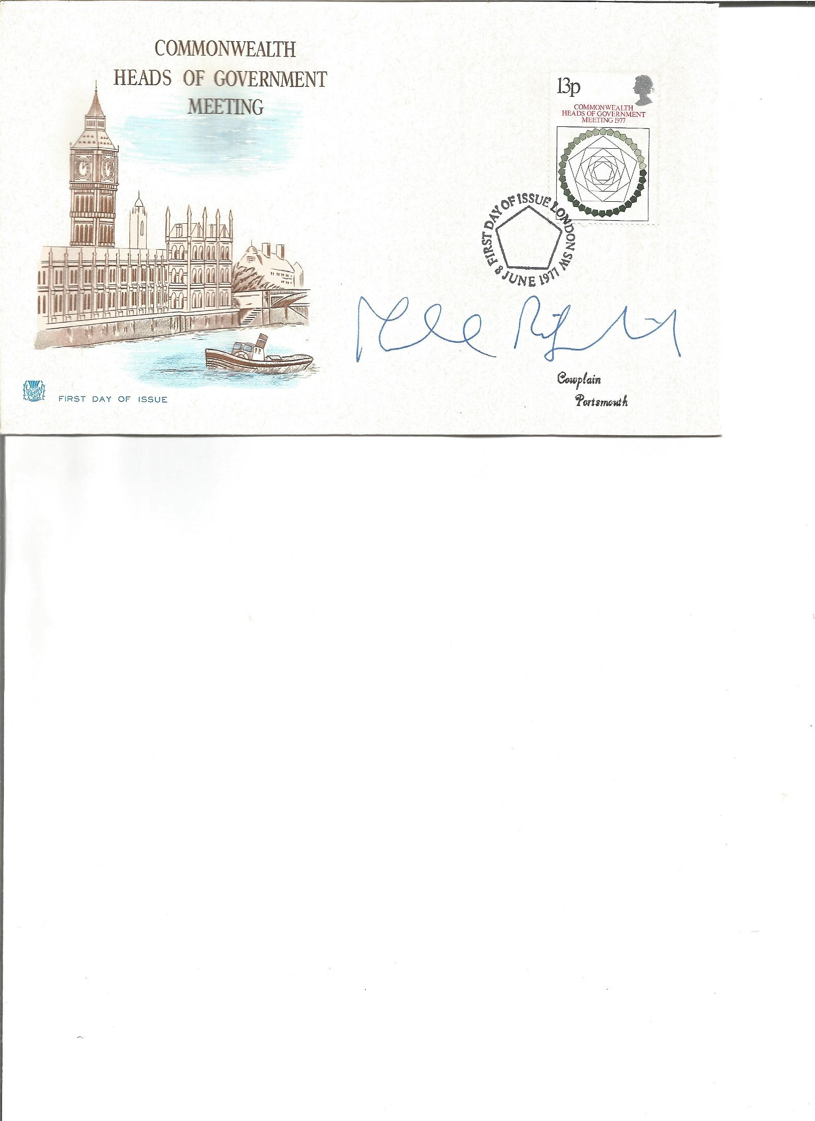 Malcolm Rifkind signed cover. Good Condition. All