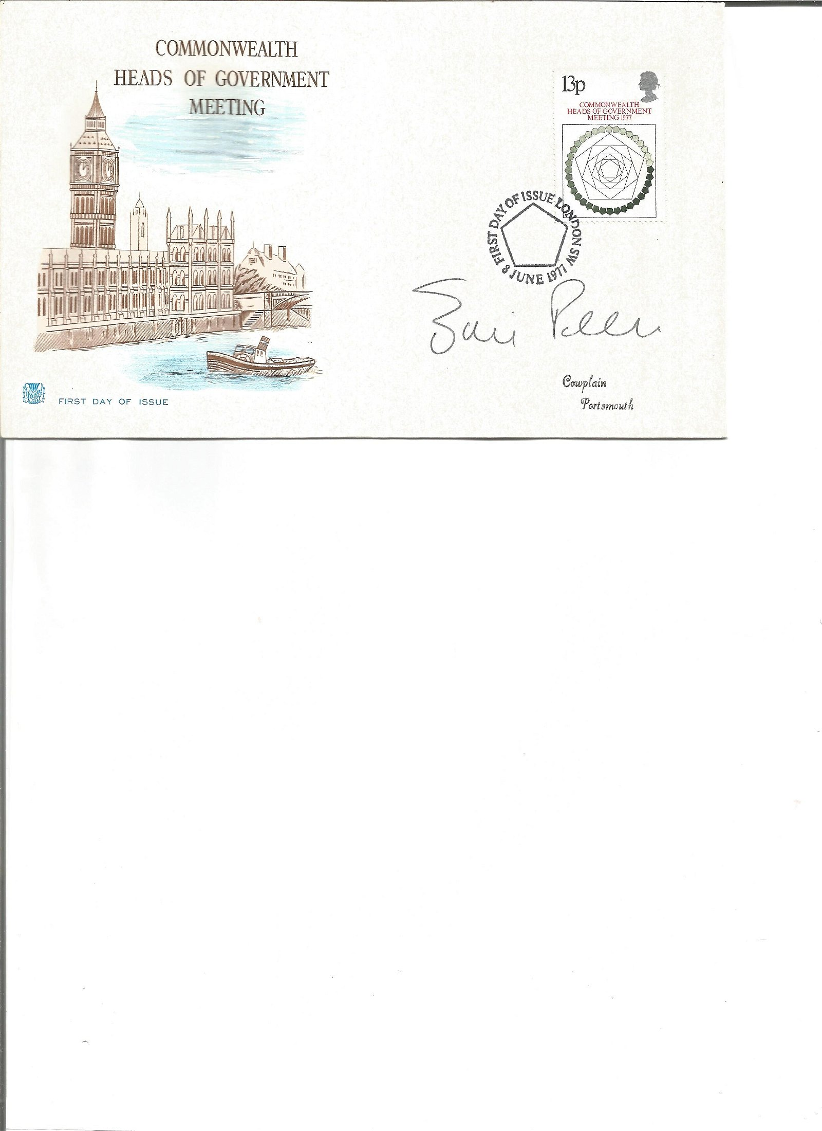 Eric Pickles signed cover. Good Condition. All signed