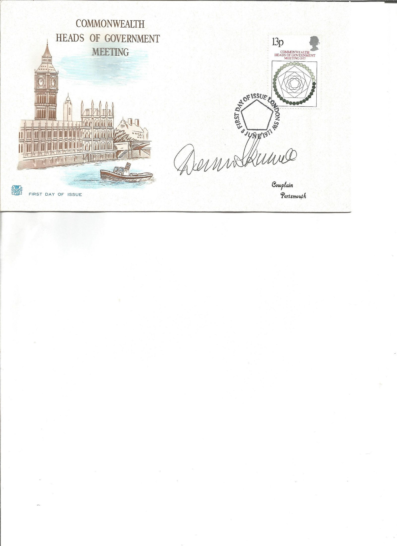 Dennis Skinner signed cover. Good Condition. All signed