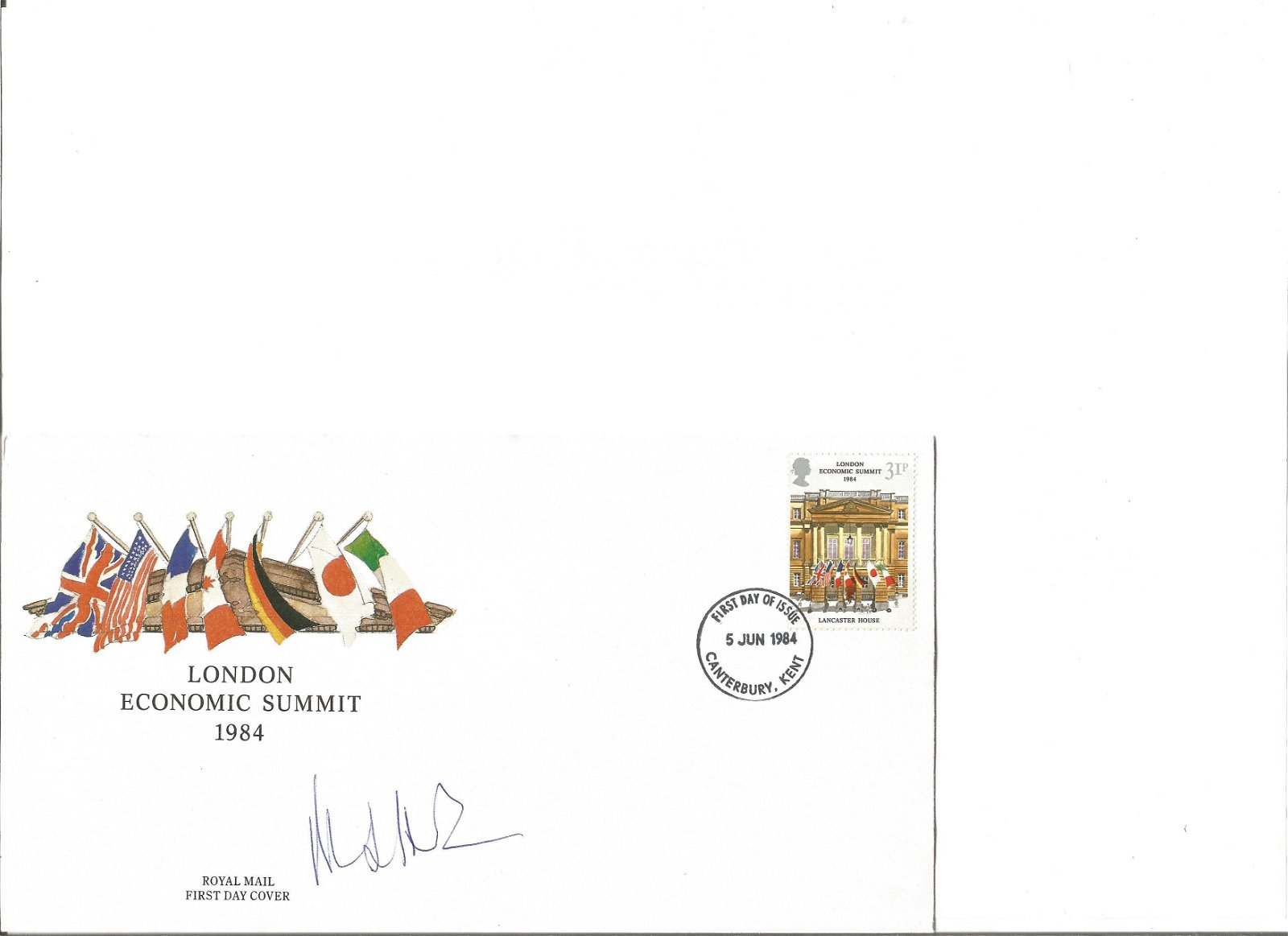 Michael Heseltine signed cover. Good Condition. All