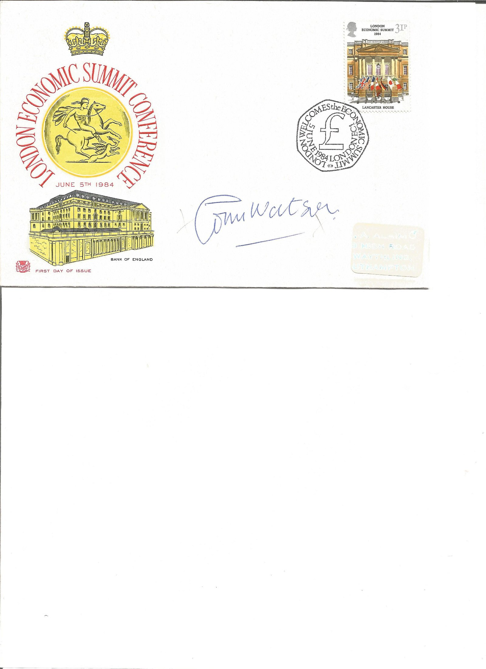 Tom Watson signed cover. Good Condition. All signed