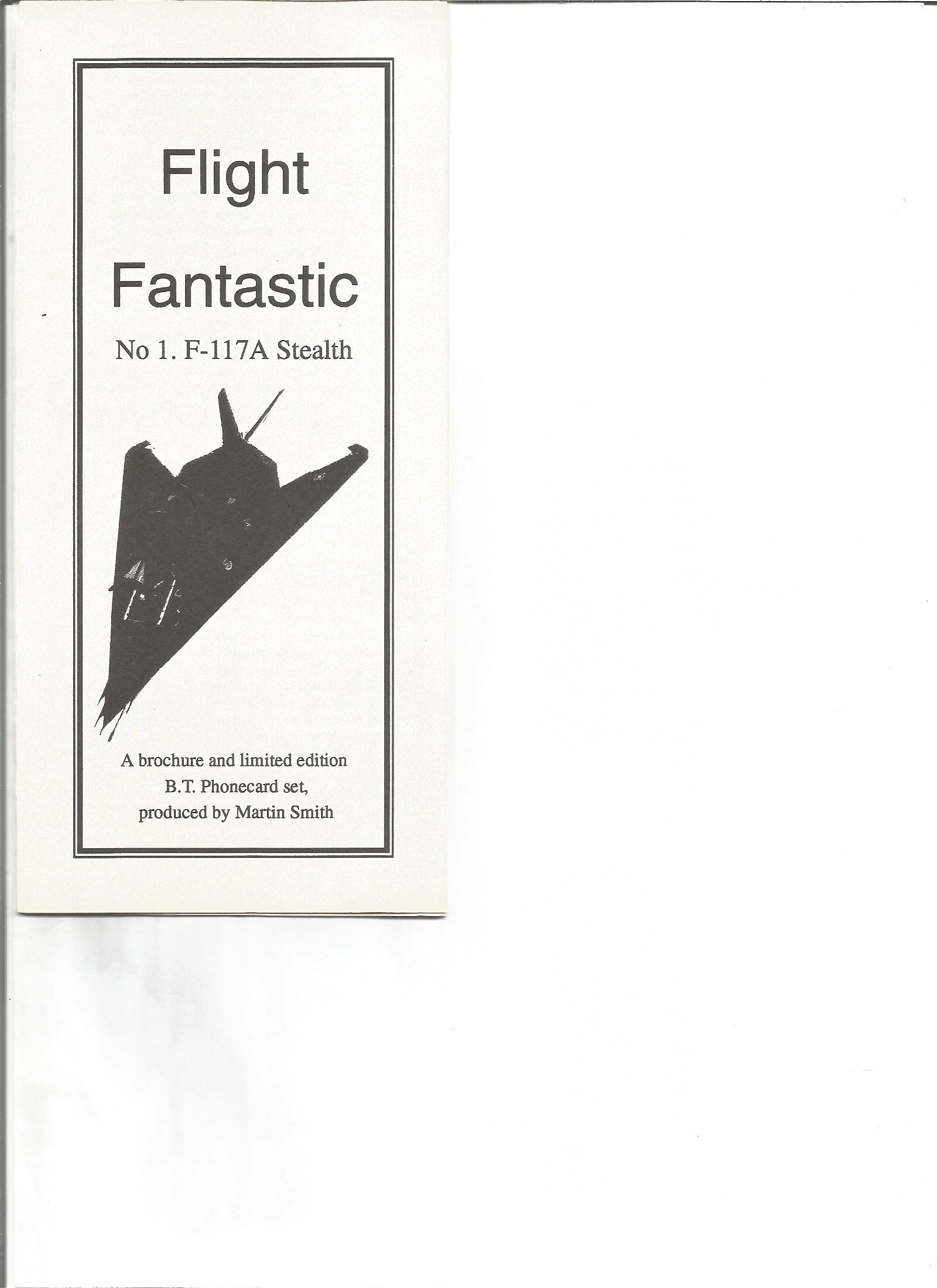 Flight Fantastic No 1 F 117A Stealth phonecard in