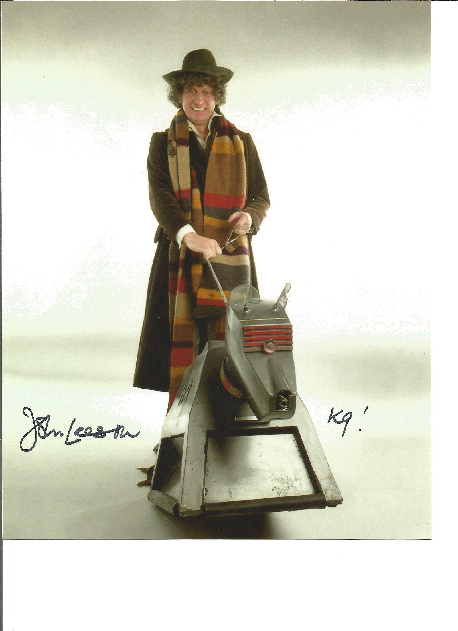 K9 voice John Leeson Dr Who signed colour photo of K9