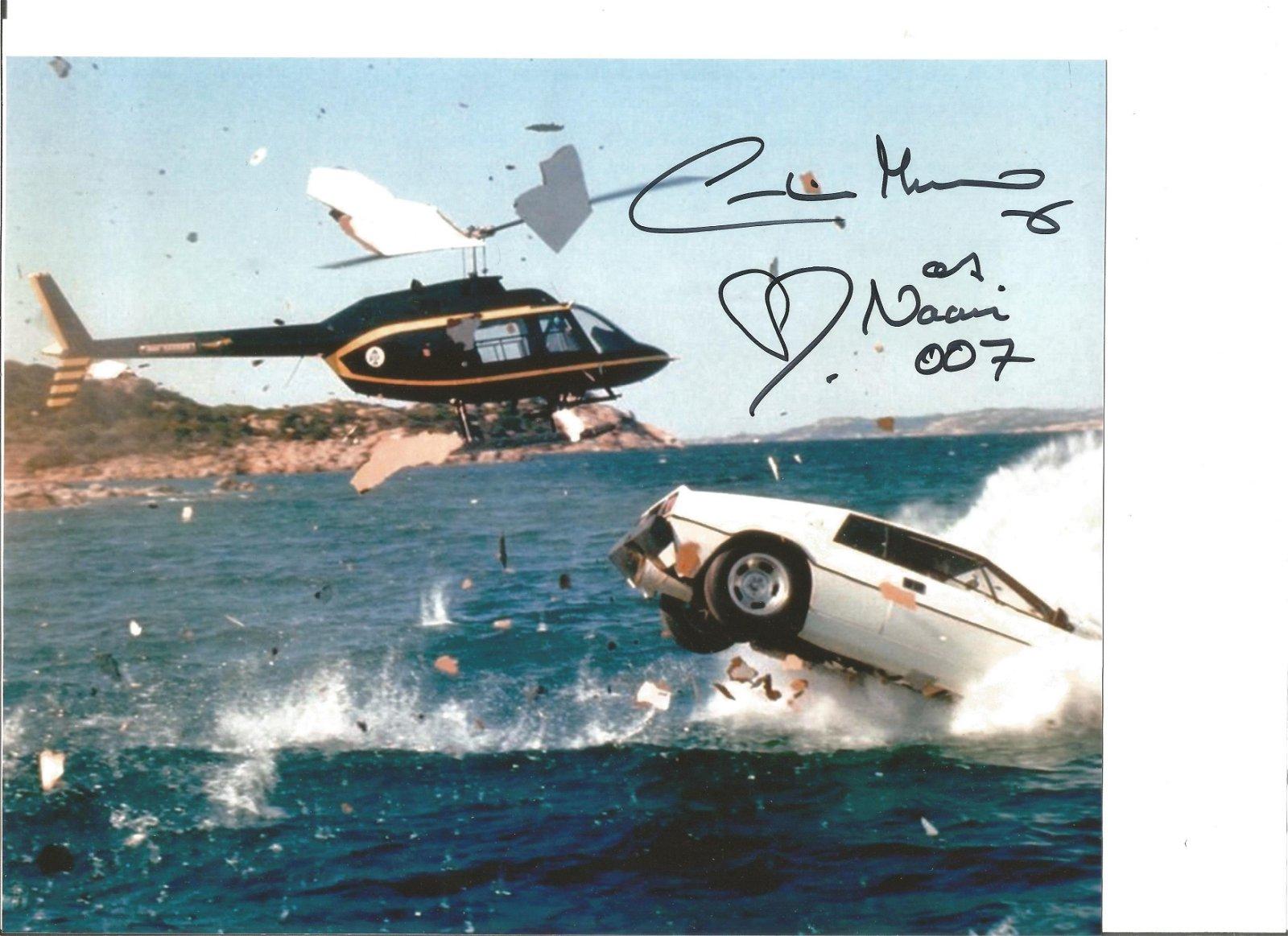 Caroline Munro signed James Bond 10 x 8 colour photo,
