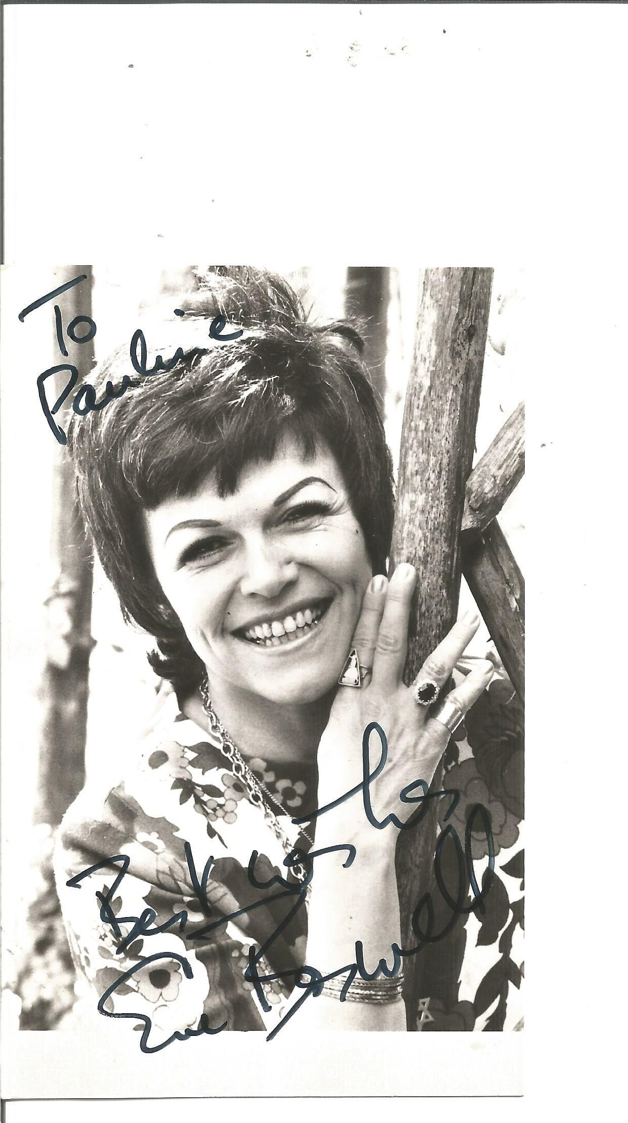 Eve Boswell signed 6x4 black and white photo.