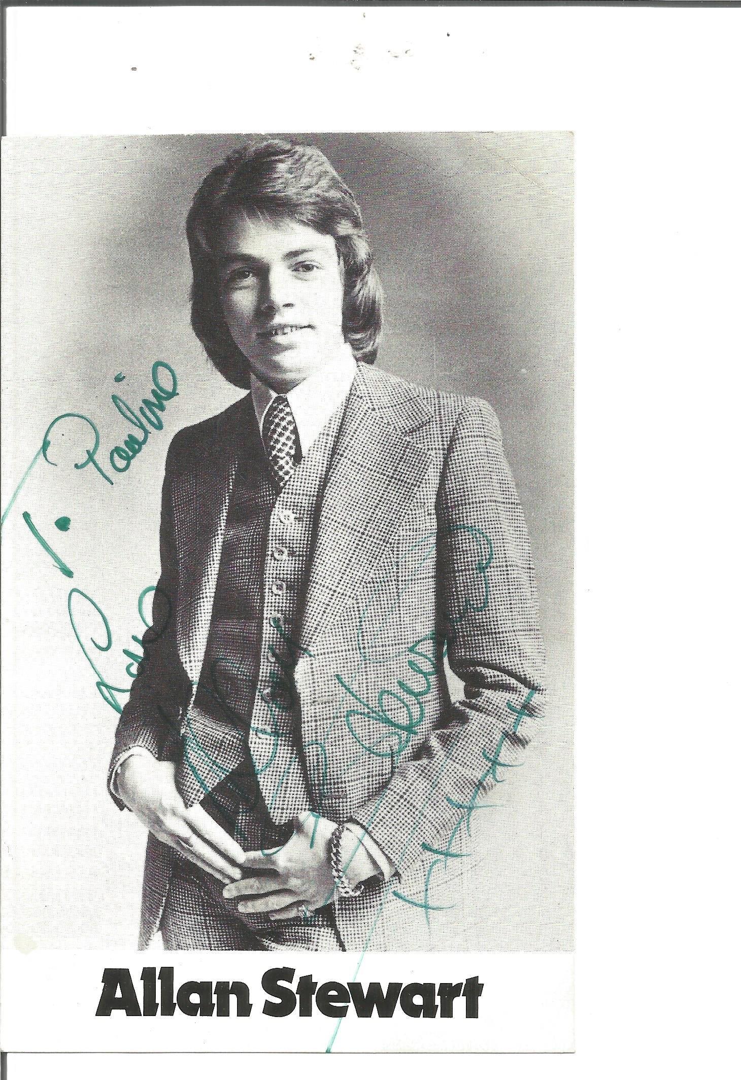 Allan Stewart signed 6x4 black and white photo.