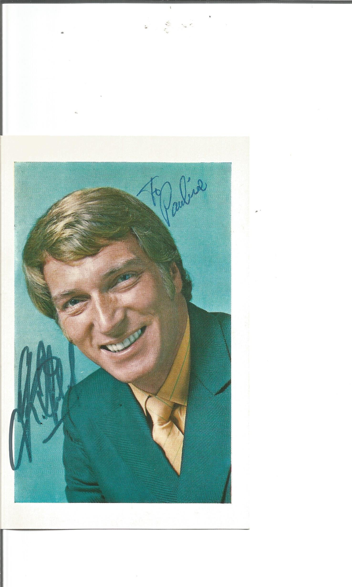 Frank Ifield signed 6x4 colour photo. Dedicated. Good