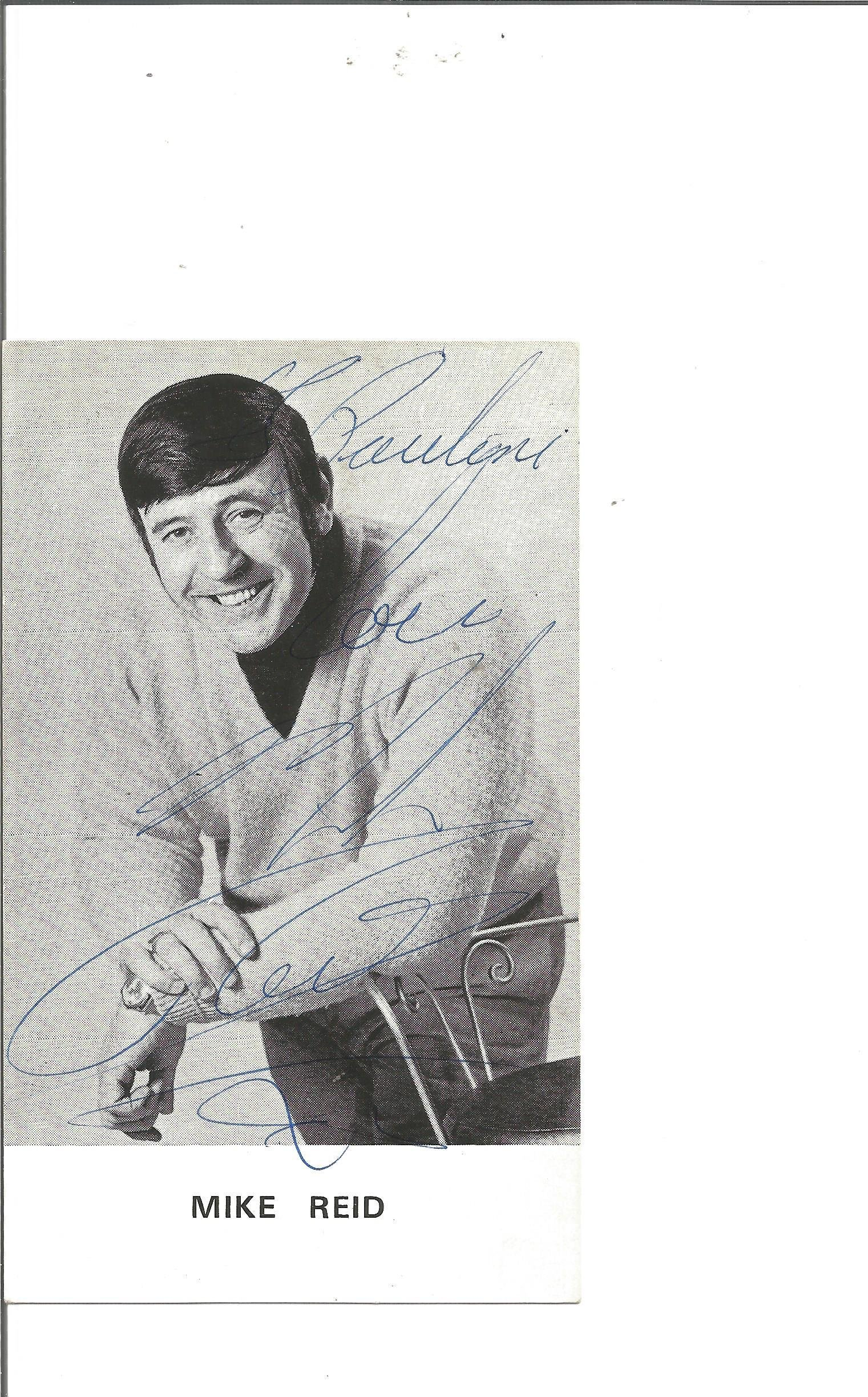 Mike Reid signed 6x4 black and white photo. Dedicated.