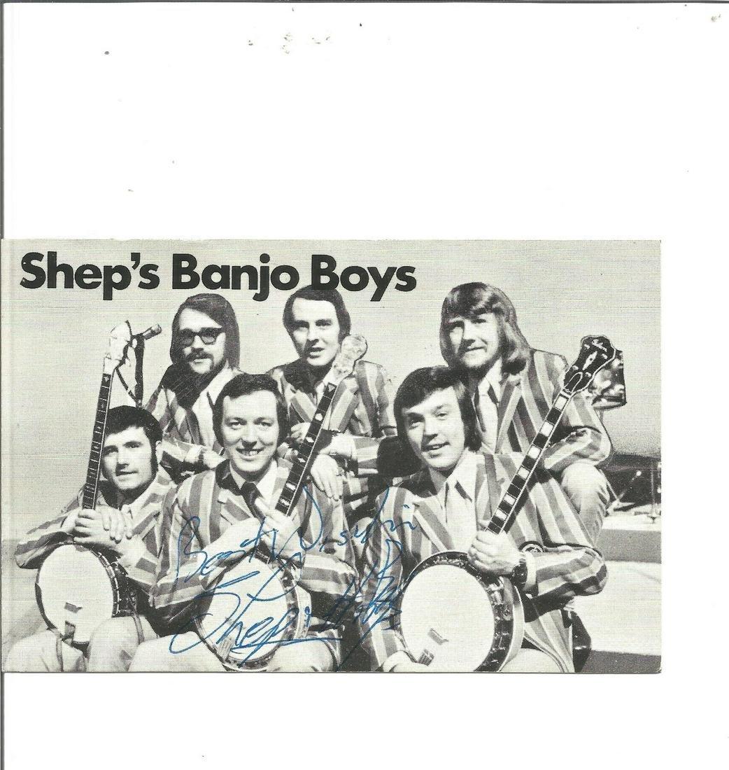 Sheps Banjo Boys signed 6x4 black and white photo. Good