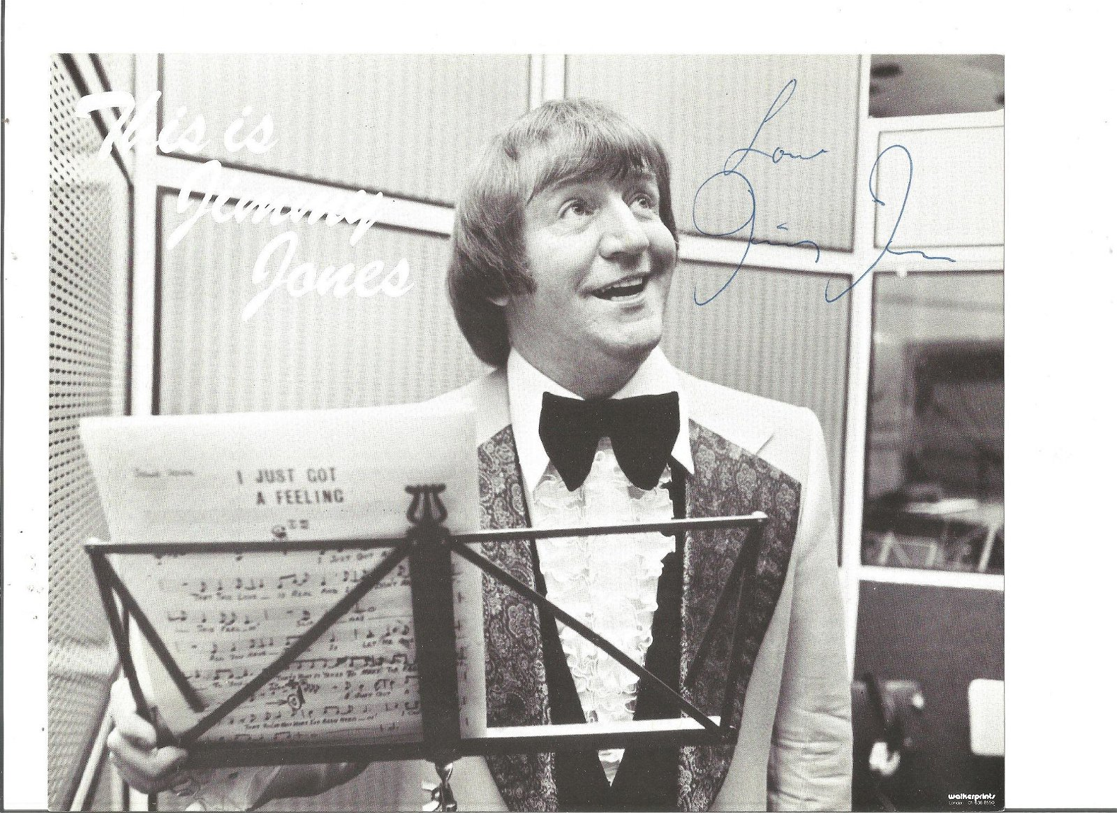 Jimmy Jones signed 10x8 black and white photo. Jim