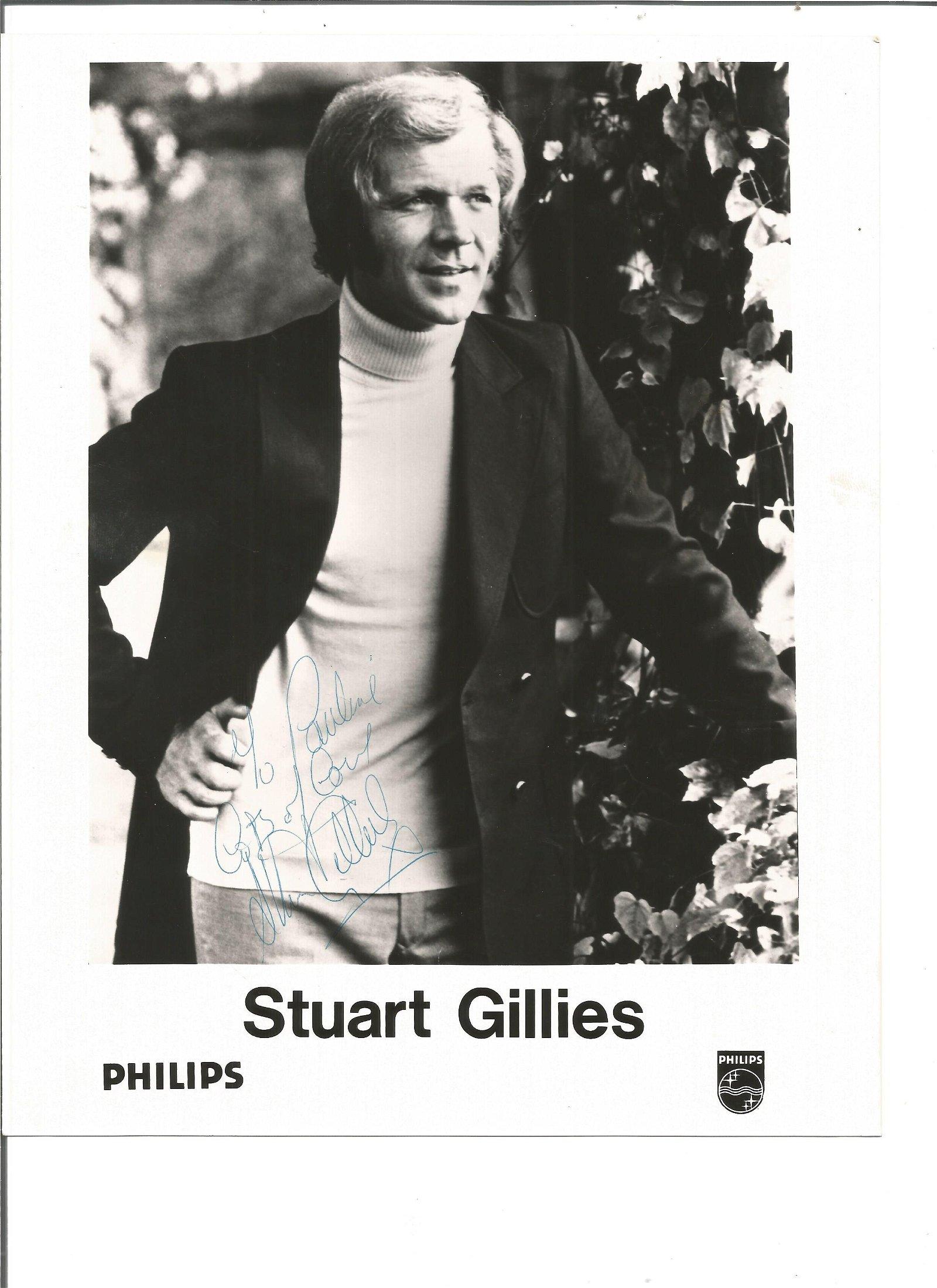 Stuart Gillies signed 10x8 black and white photo.