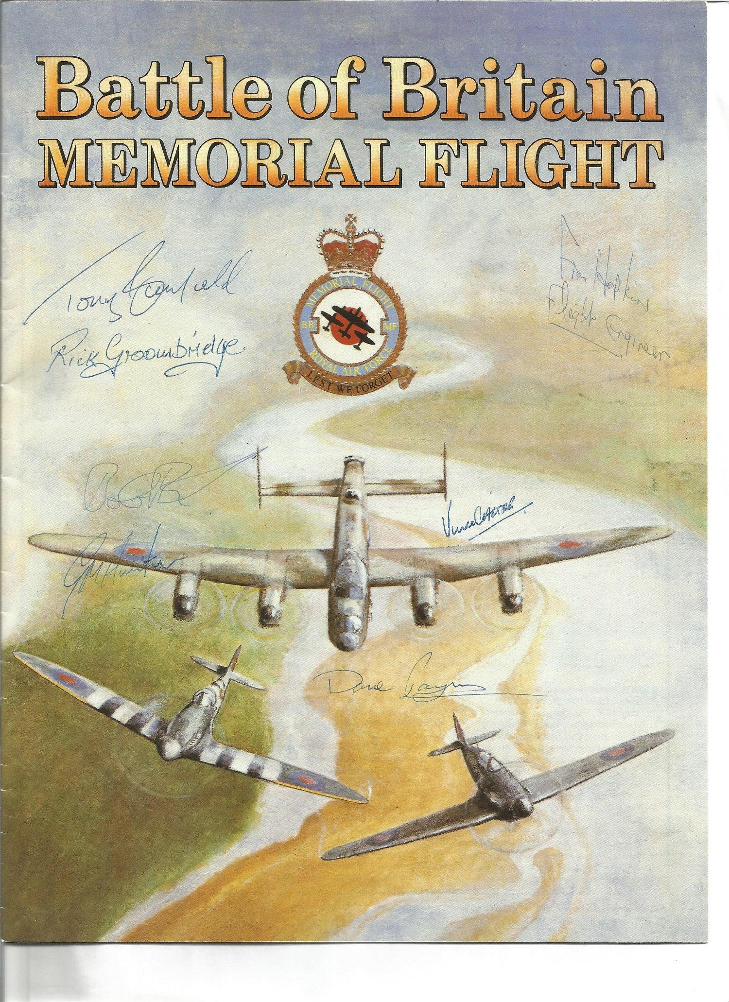 Battle of Britain Memorial flight brochure multiple
