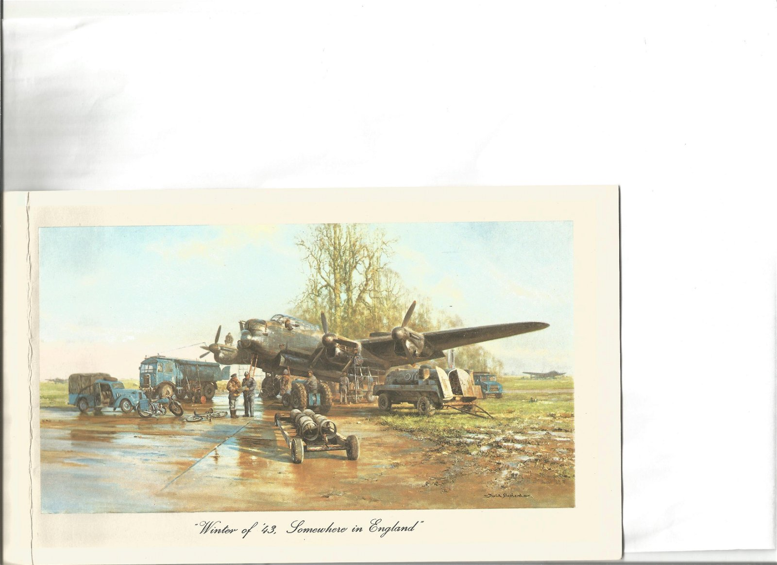 WW2 ace Denis Crowley Milling DFC artist David Shepherd
