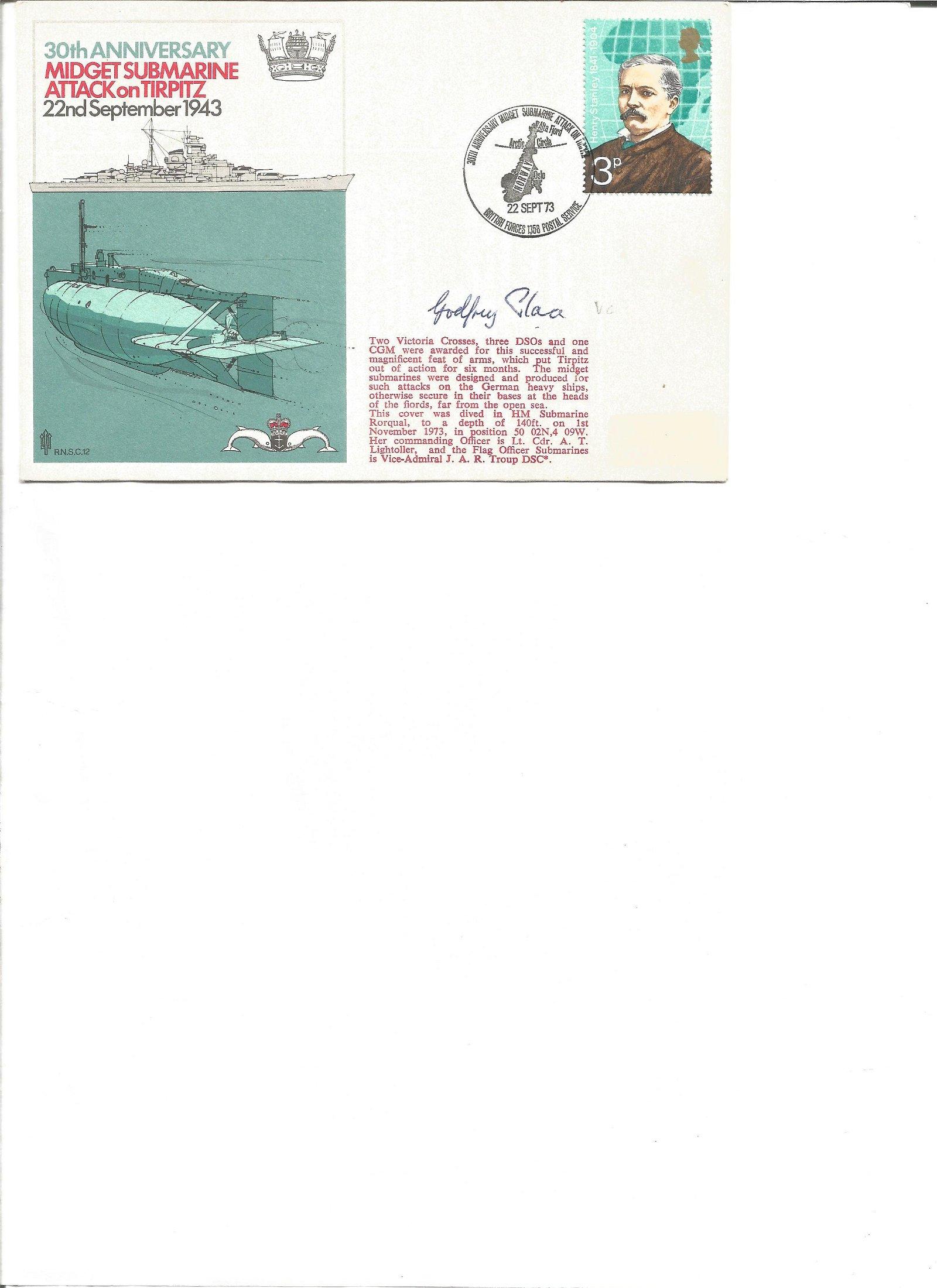 WW2 Miniature Submarine Tirpitz Godfrey Place VC signed