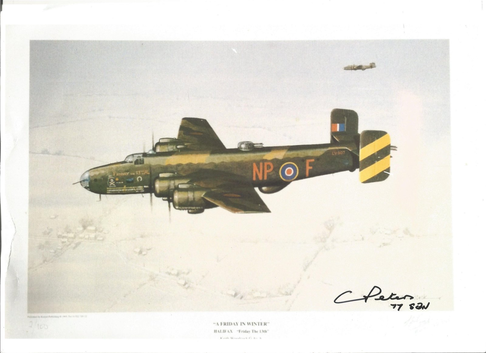 WW2 Cyril Peters signed 12 x 8 colour photo print of