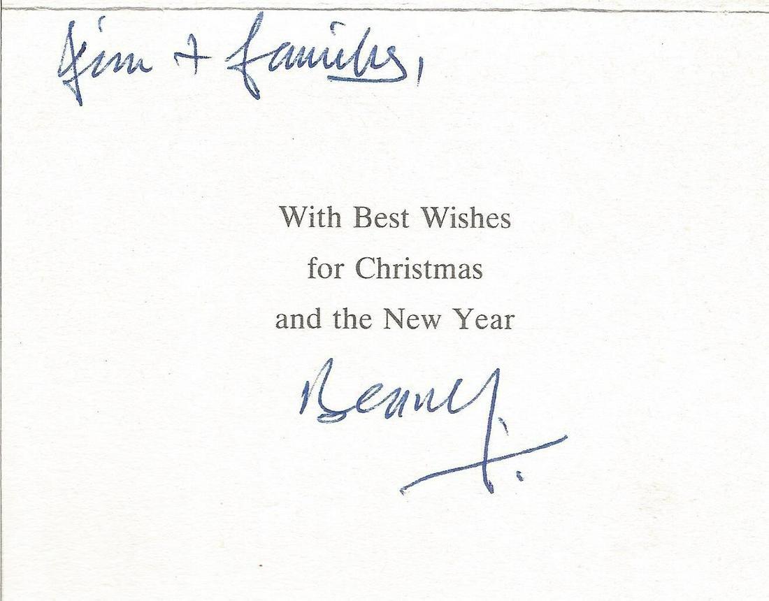 WW2 617 Sqn Benny Goodman signed Christmas card to 617