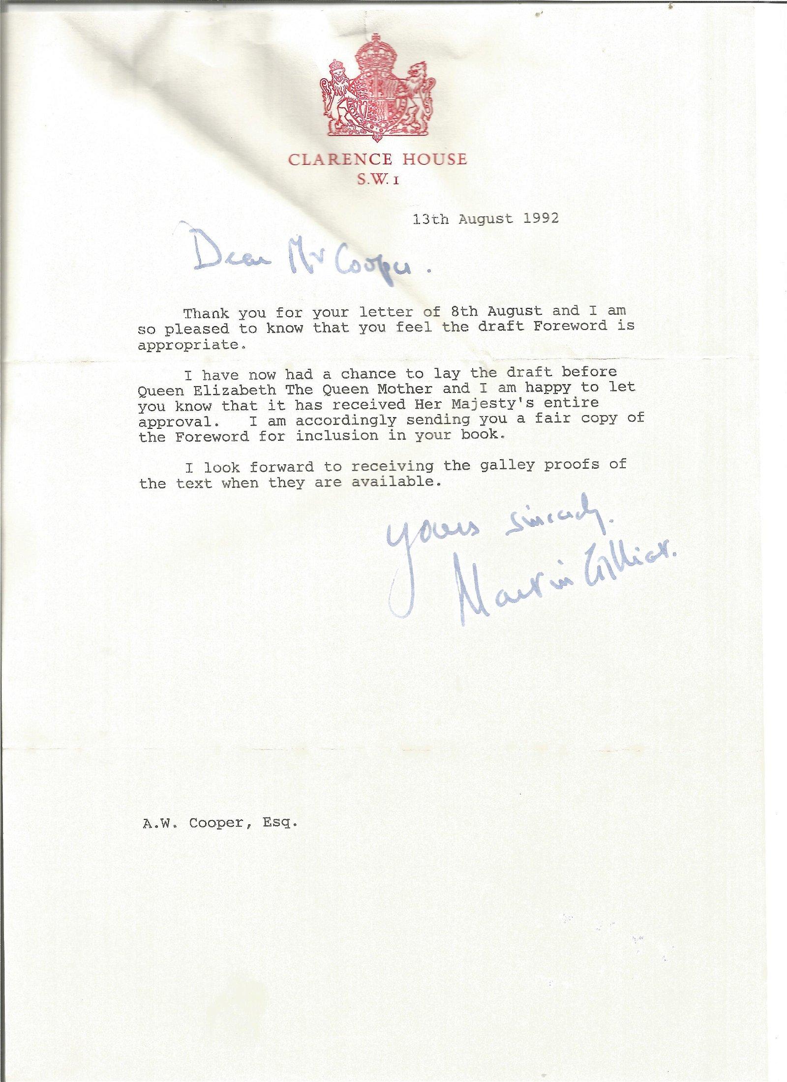 WW2 Dunkirk POW Sir Martin Gilliat later PPS Queen