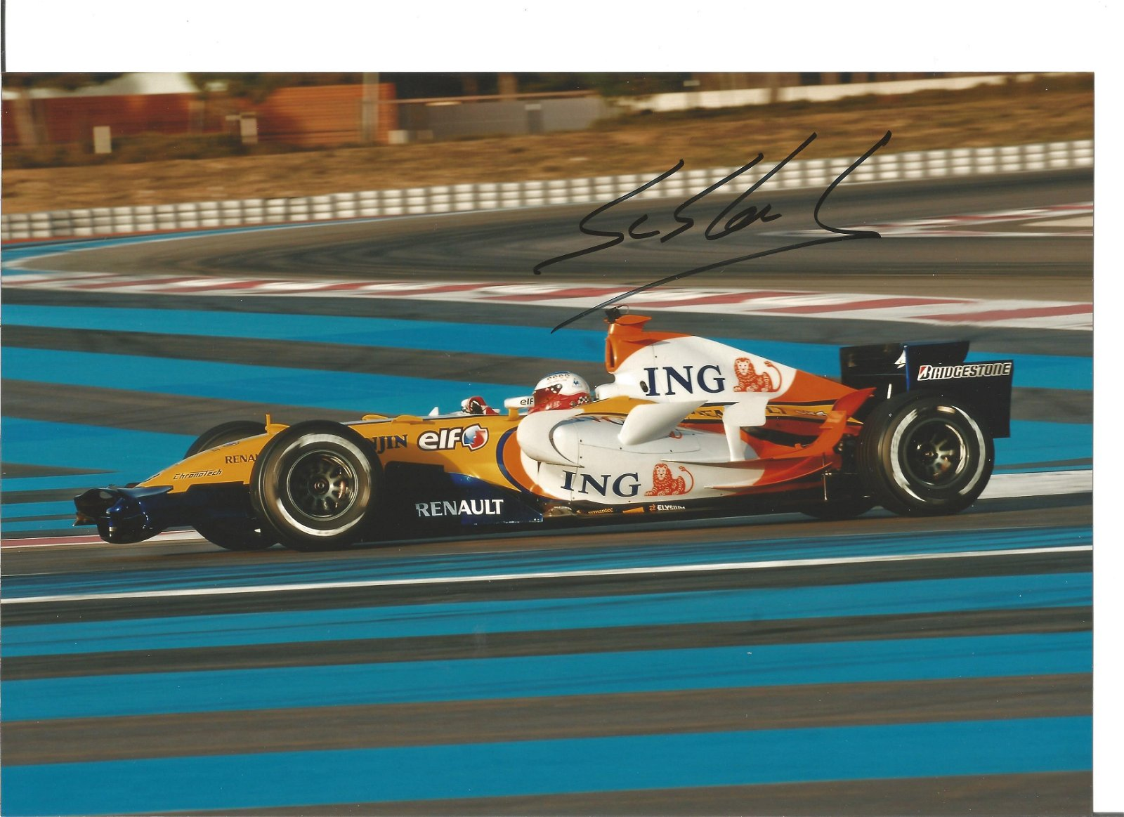 Sebastian Loeb 12 x 8 Renault F1 test run action Motor