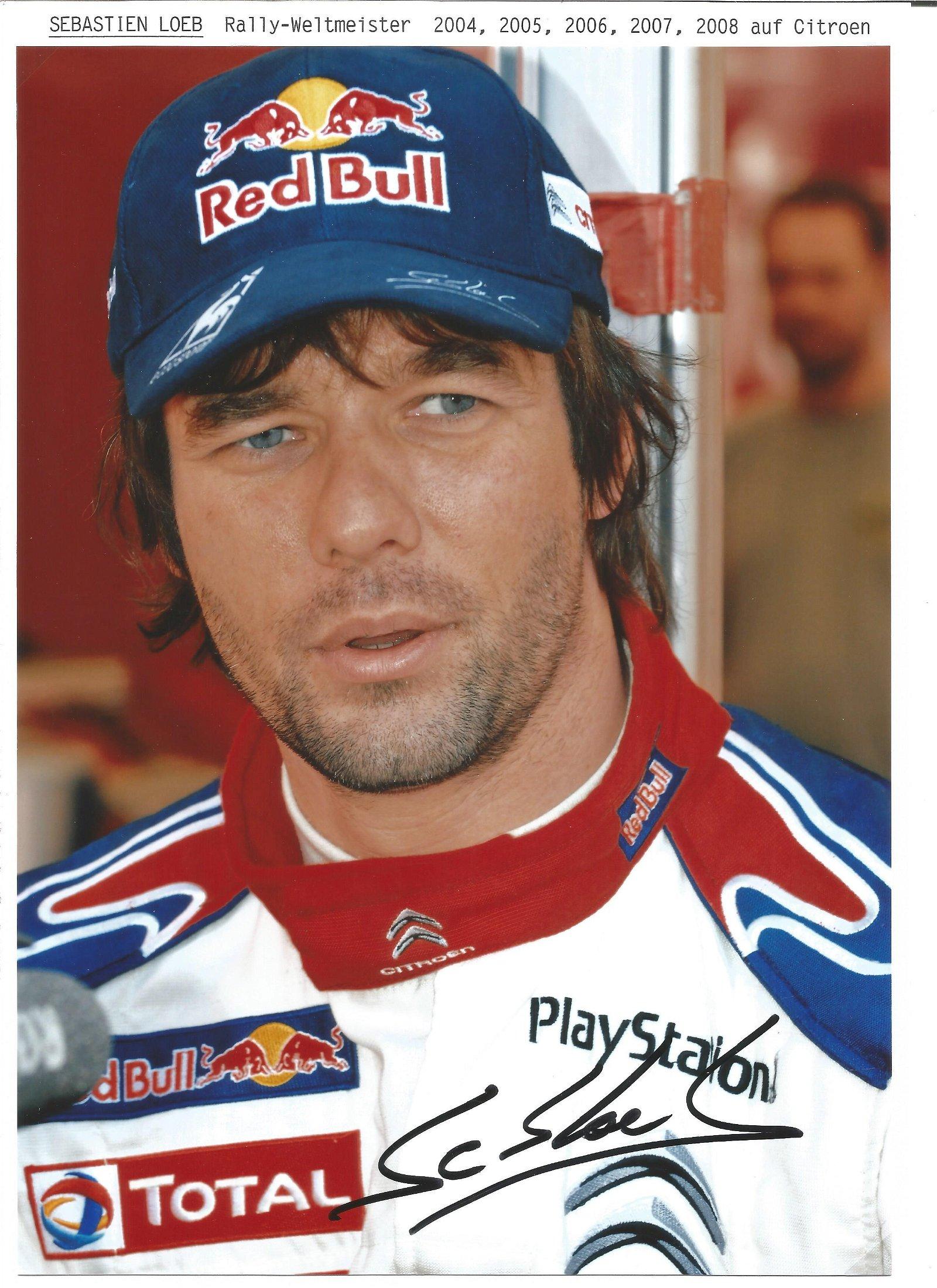 Sebastian Loeb 12 x 8 World Rally Champion Motor Racing