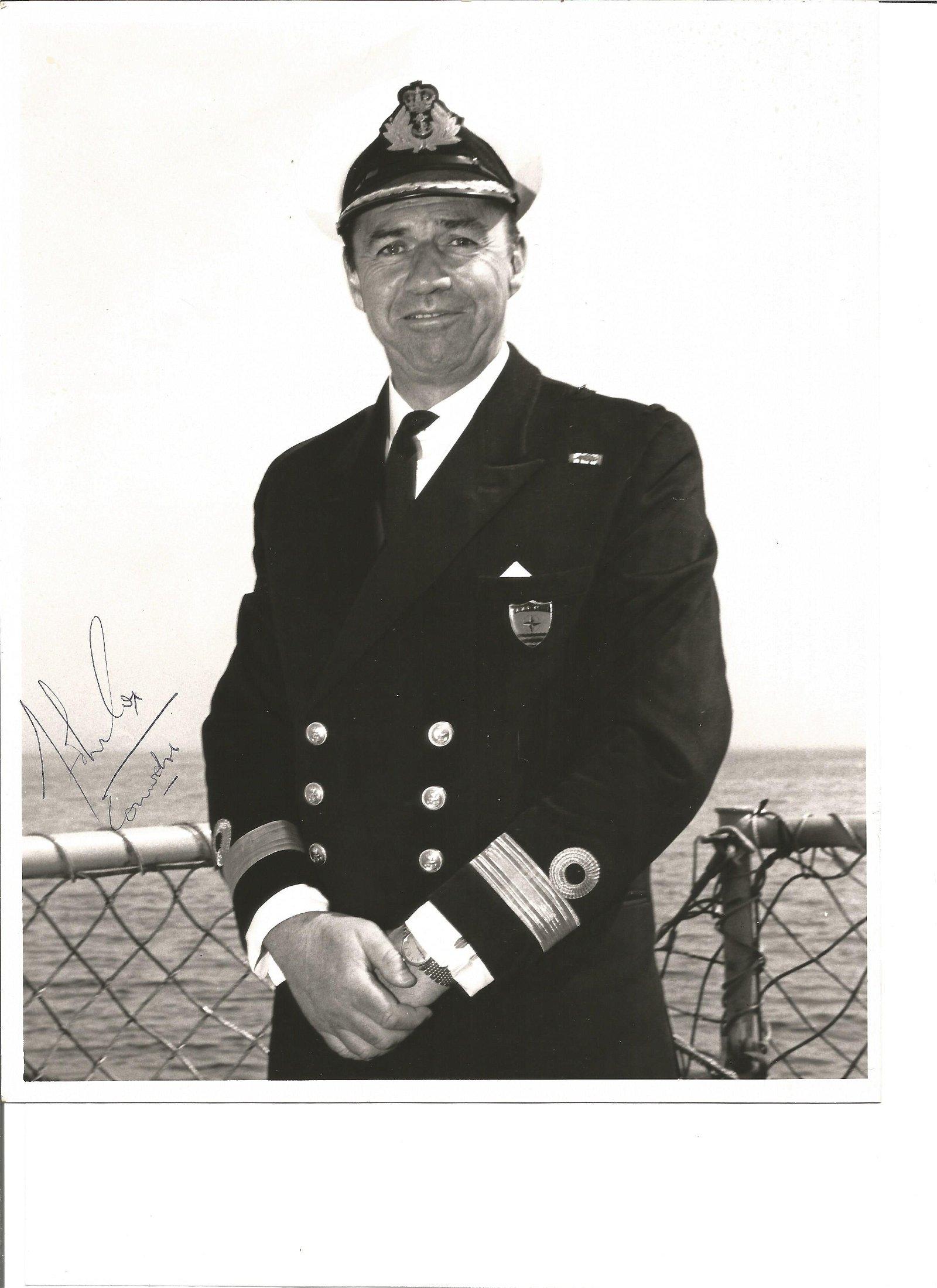 Mjr Gen John V. Cox signed 10 x 8 b/w photo in Military