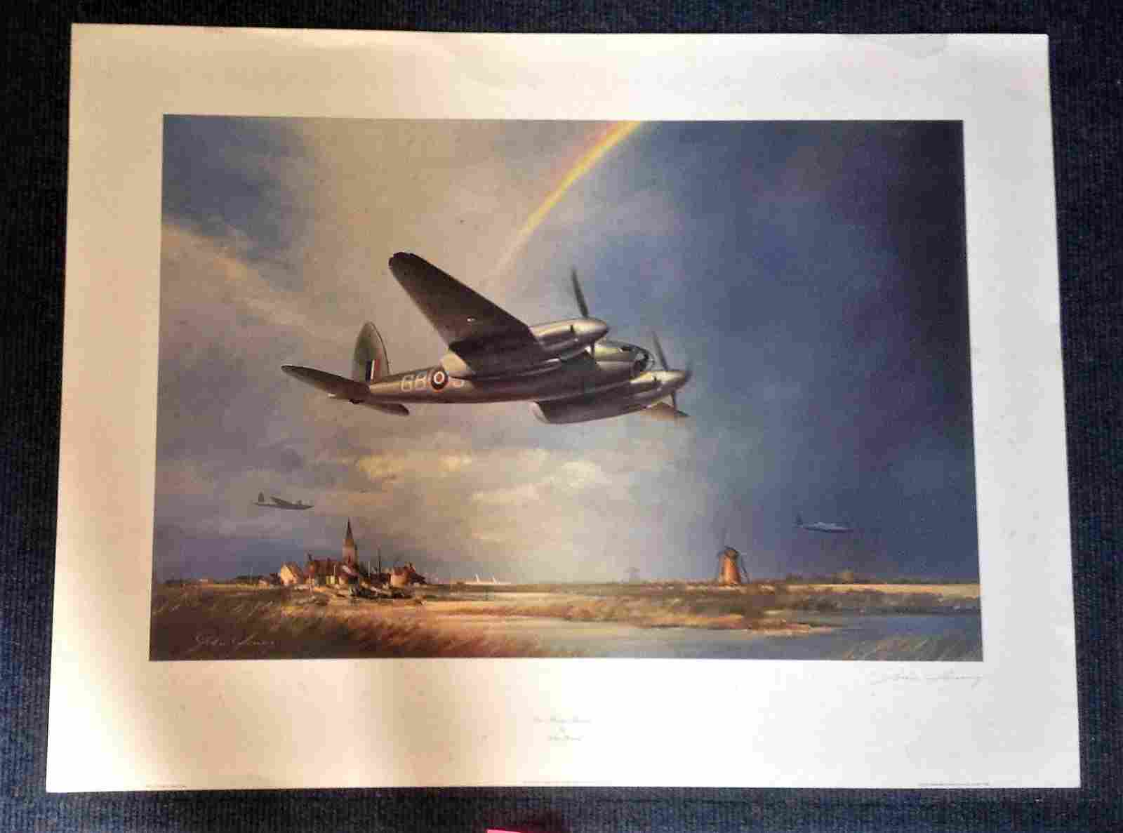 World War Two print 35x25 approx titled Low Flying