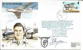 Sqn Ldr H G Hazelden signed on his own Test Pilots