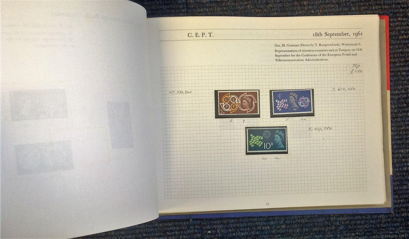 Mint GB stamps in Stanley Gibbons Great Britain special