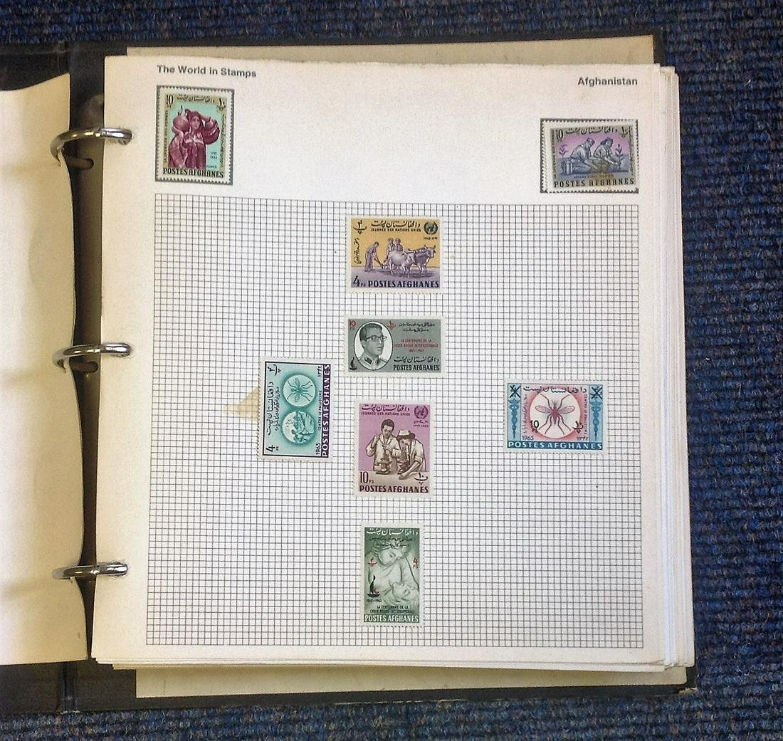 World used Stamps in Attractive World in Stamps Album,