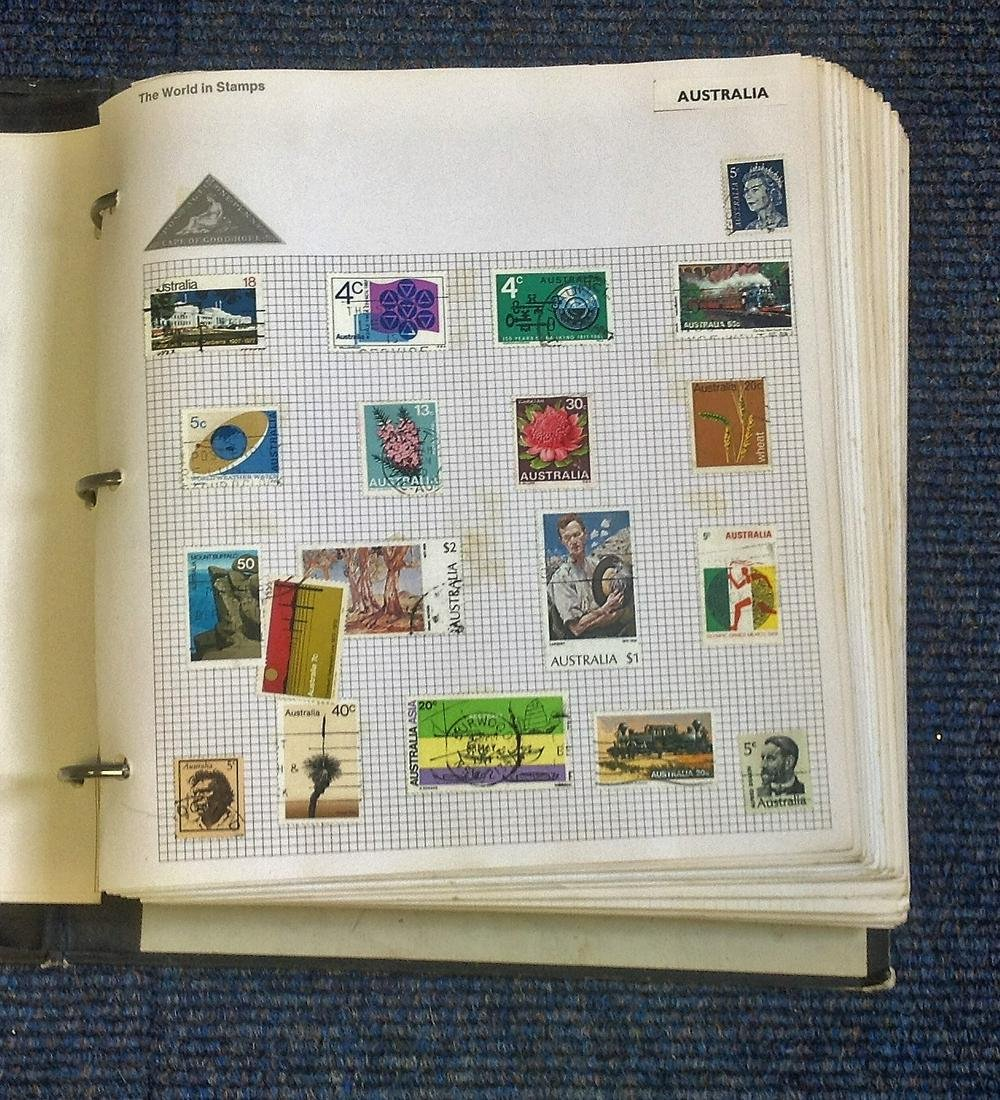 World Mint and used Stamps in World in Stamps Album,