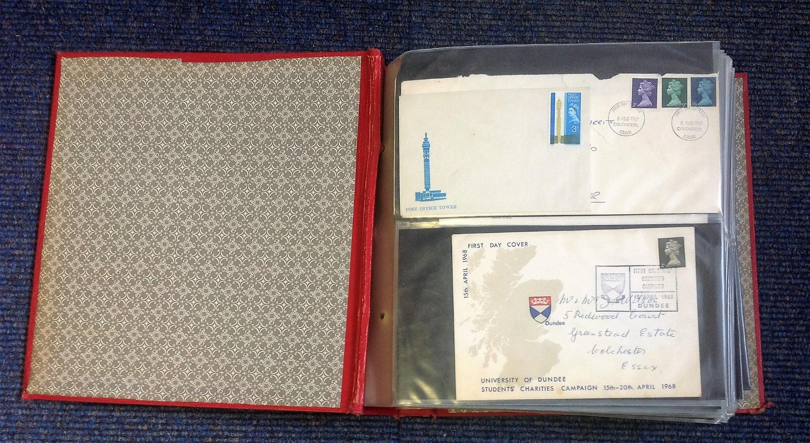 GB FDC collection in Red Album. 120+ covers mainly FDCs