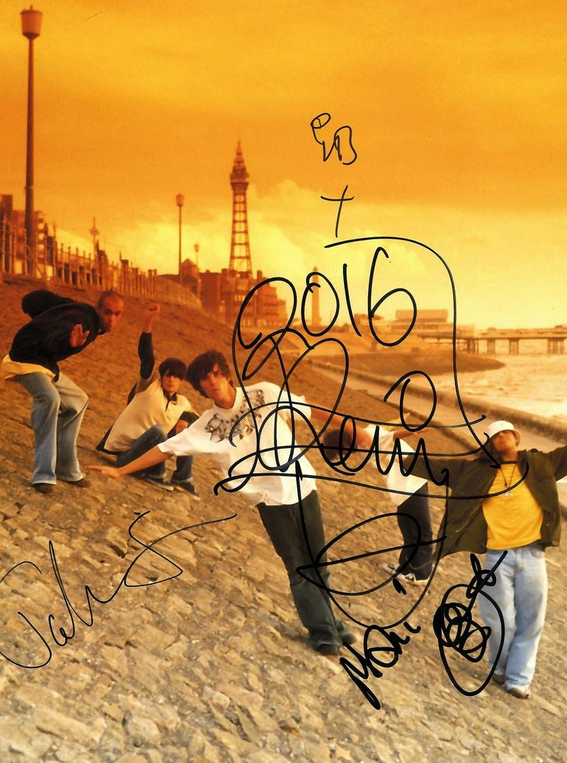 Stone Roses Music band fully signed 16 x 12 inch group