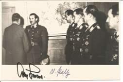 Luftwaffe aces Adolf Galland and Peltz signed 7 x 5