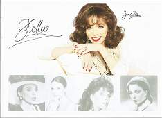 Joan Collins signed 12x8 colour photo Good Condition