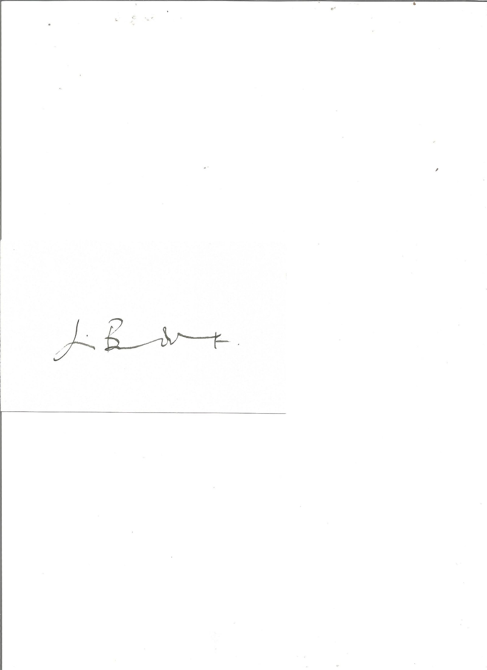 Jim Broadbent signed white card. Good Condition. All