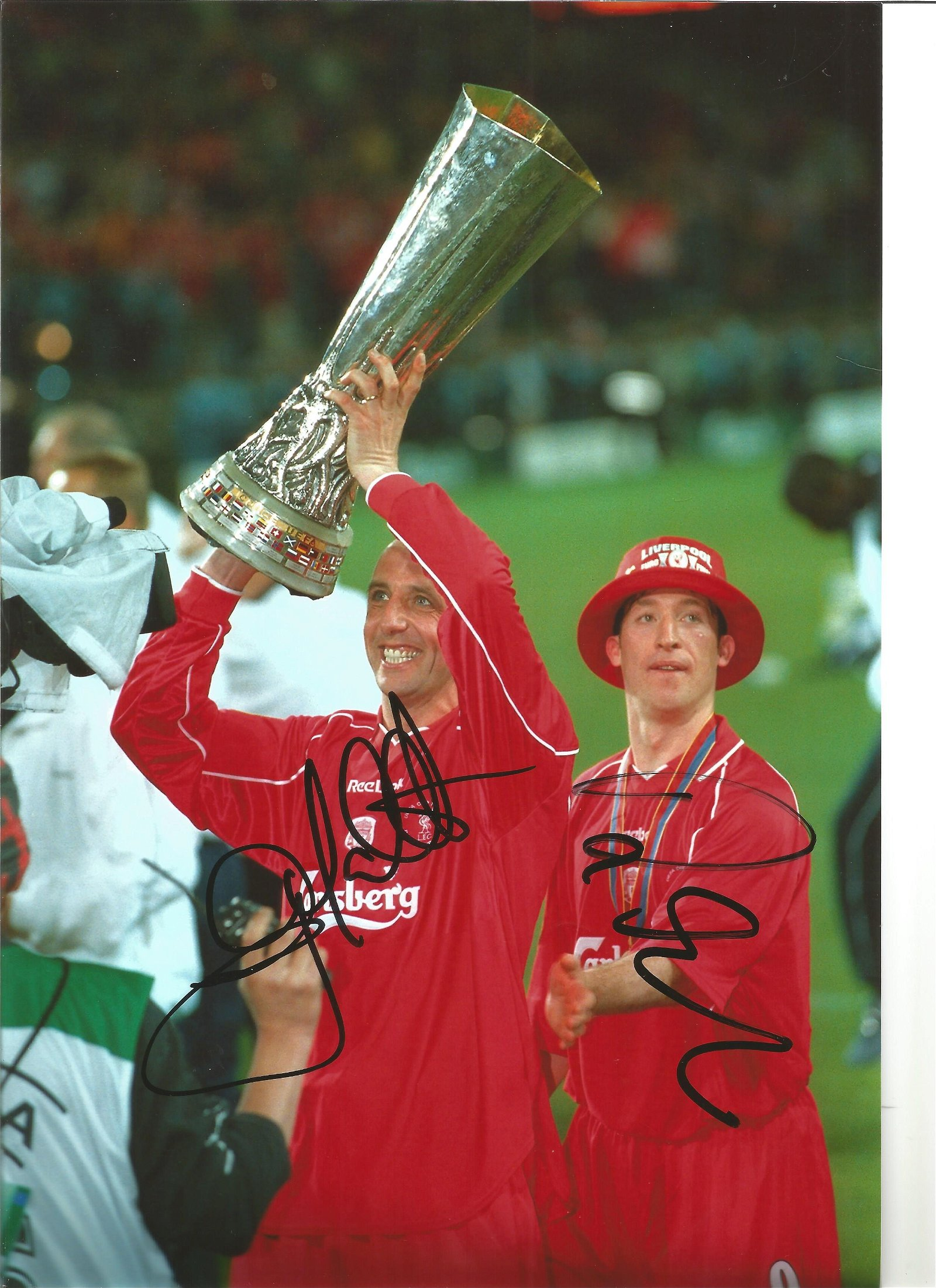 Robbie Fowler and Gary McAllister Liverpool Signed 12 x