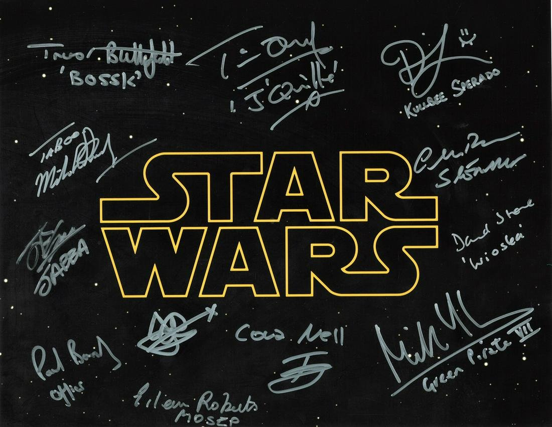 Star Wars 16x12 multi signed colour photo signed by 13